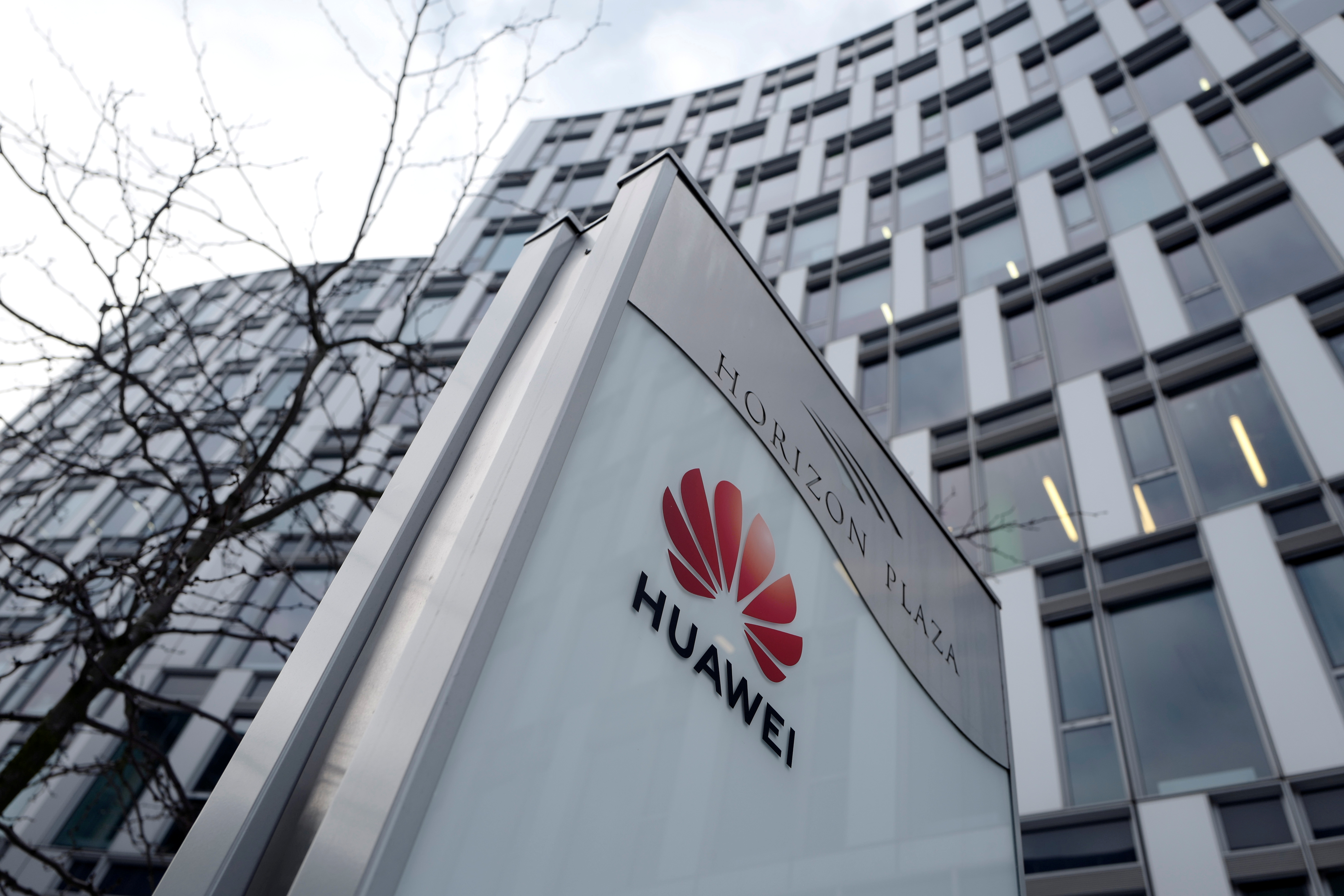Logo of Huawei is seen in front of the local offices of Huawei in Warsaw, Poland January 11, 2019. REUTERS/Kacper Pempel/File Photo