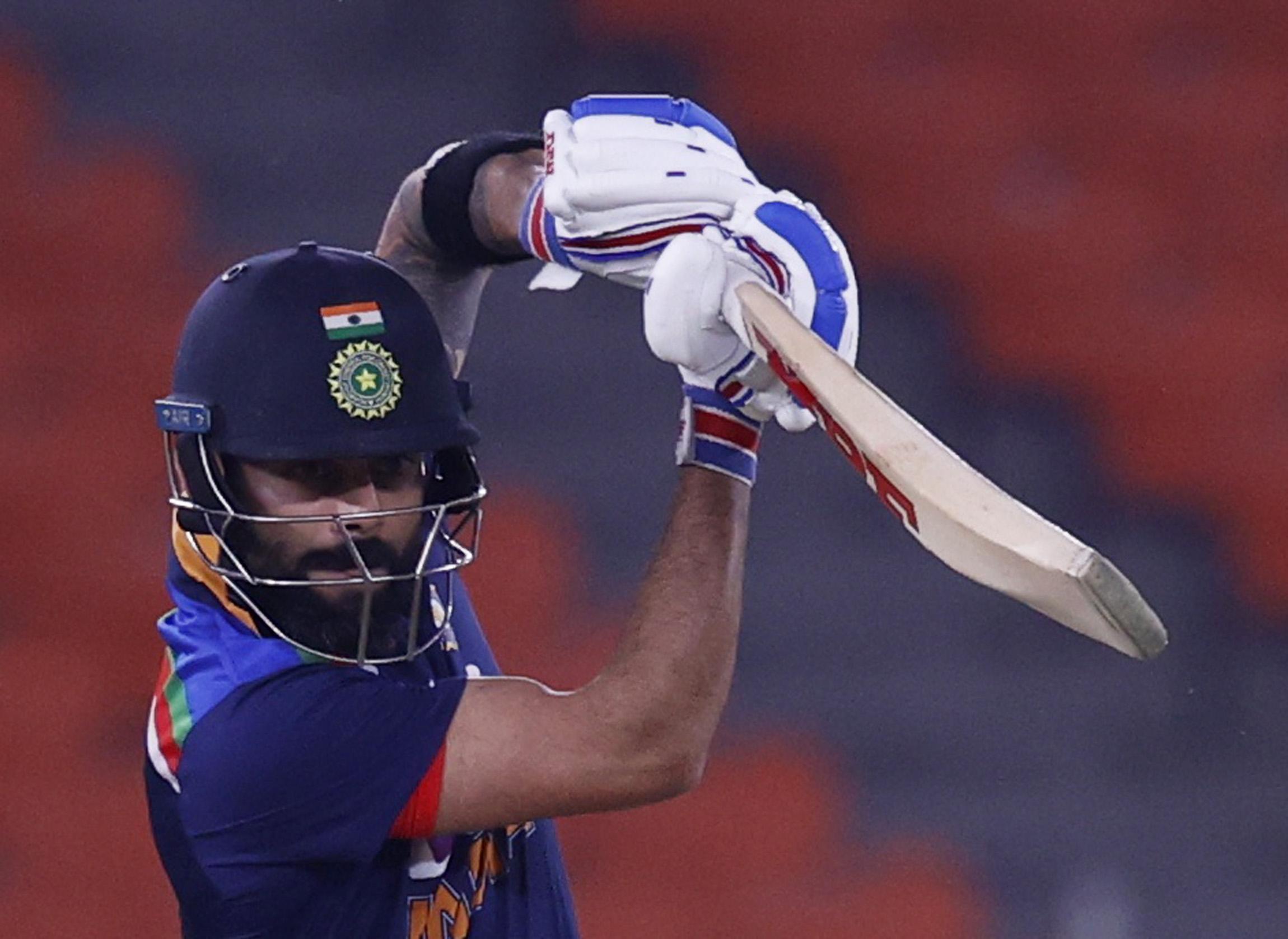 Cricket - Fifth Twenty20 International - India v England - Narendra Modi Stadium, Ahmedabad, India - March 20, 2021 India's Virat Kohli in action REUTERS/Danish Siddiqui