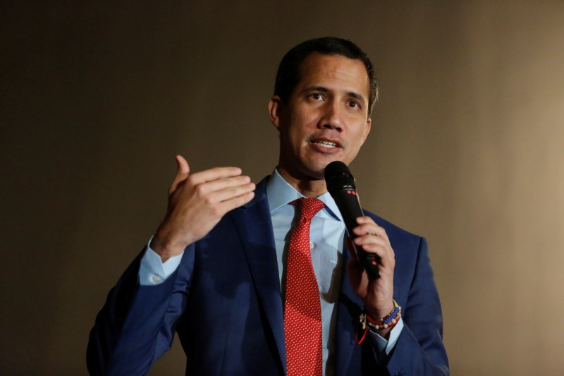 Venezuela's opposition leader Juan Guaido, who many nations have recognized as the country's rightful interim ruler, speaks during a rally with Venezuelans living in Canada in Ottawa, Ontario, Canada, January 27, 2020. REUTERS/Patrick Doyle