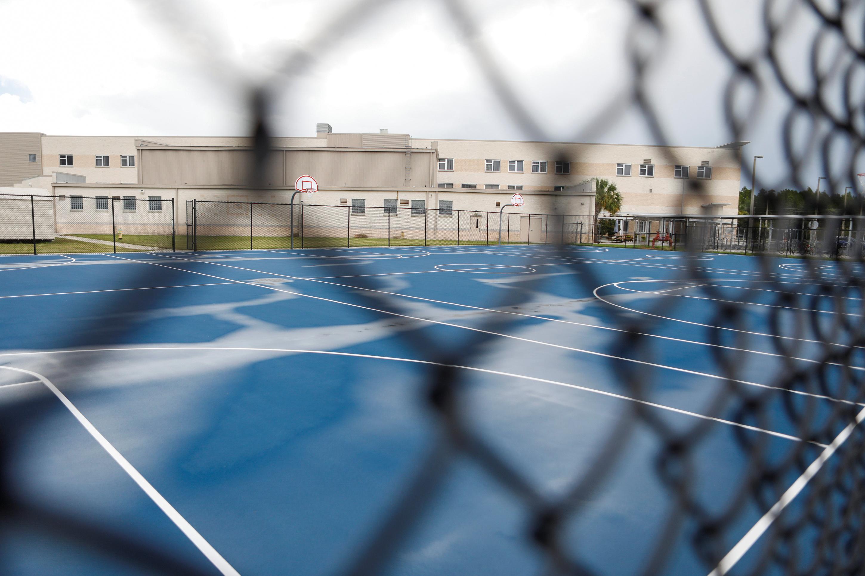 A school yard is seen in Land O' Lakes, in Pasco County, Florida, U.S., July 21, 2020. REUTERS/Octavio Jones/File Photo