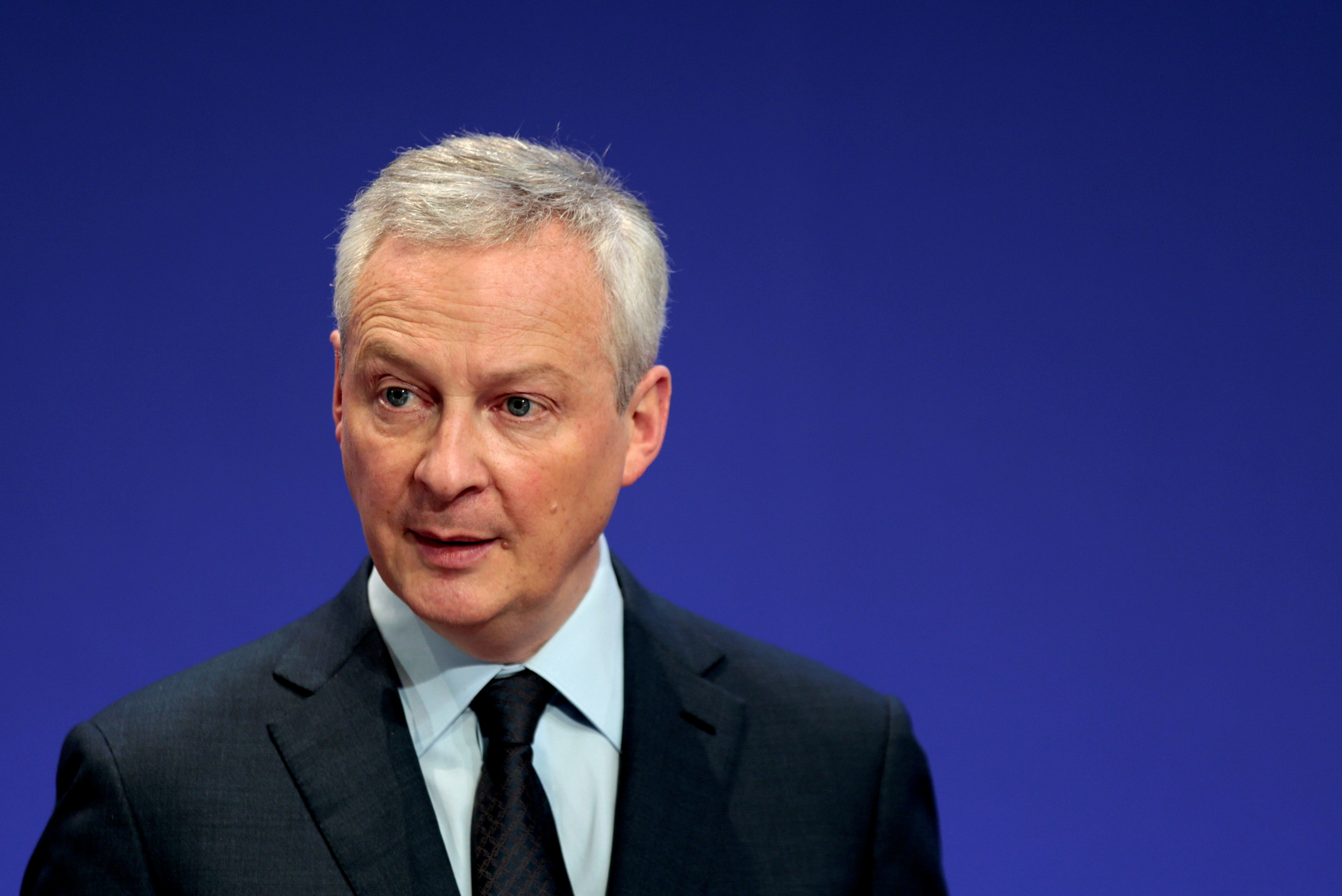 French Economy and Finance Minister Bruno Le Maire attends a news conference for the launching of the 2020 income tax campaign at the Bercy Finance Ministry in Paris, France, April 8, 2021. REUTERS/Sarah Meyssonnier/File Photo