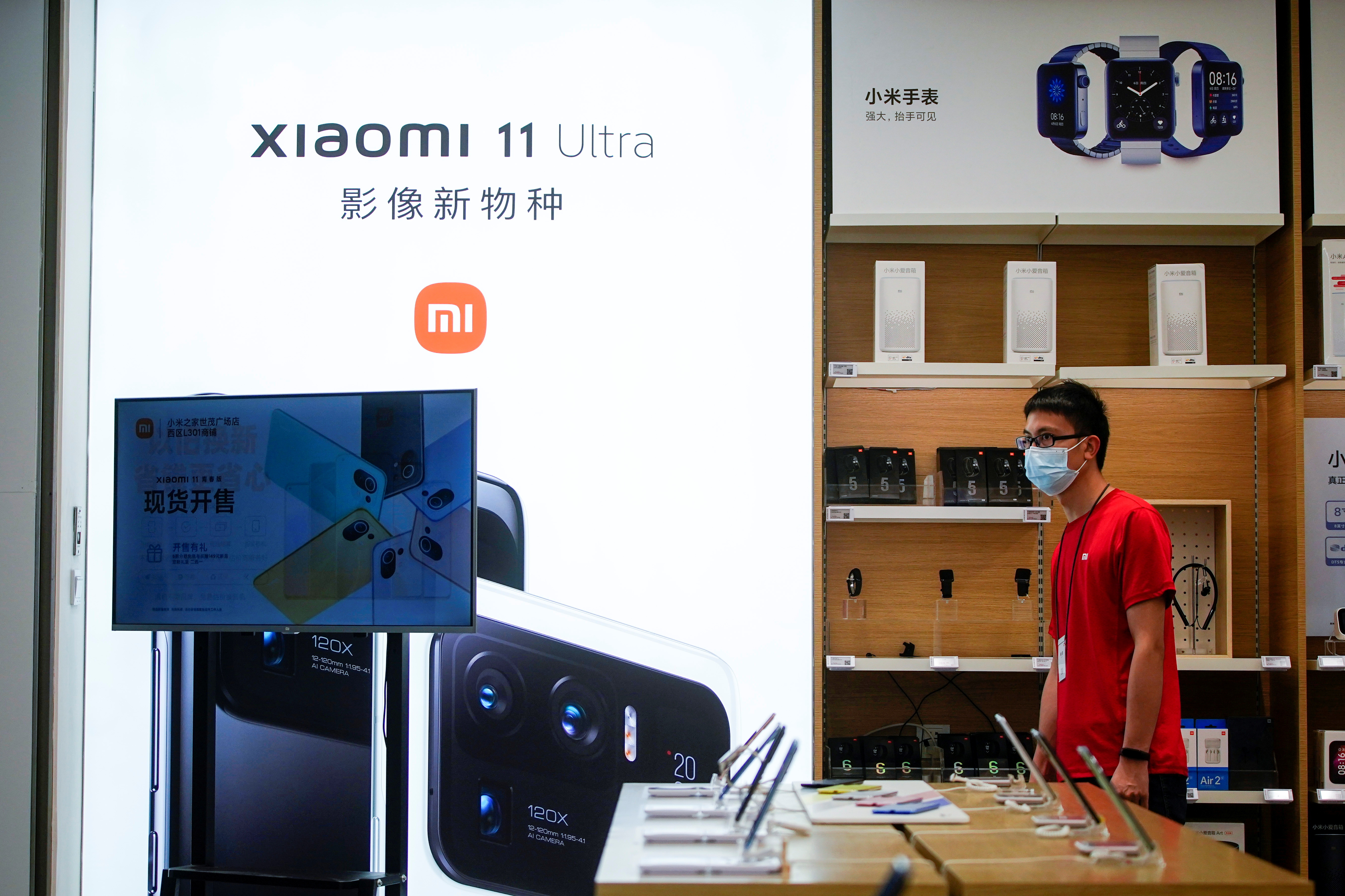 The Xiaomi logo is seen at a Xiaomi shop, in Shanghai, China May 12, 2021. REUTERS/Aly Song
