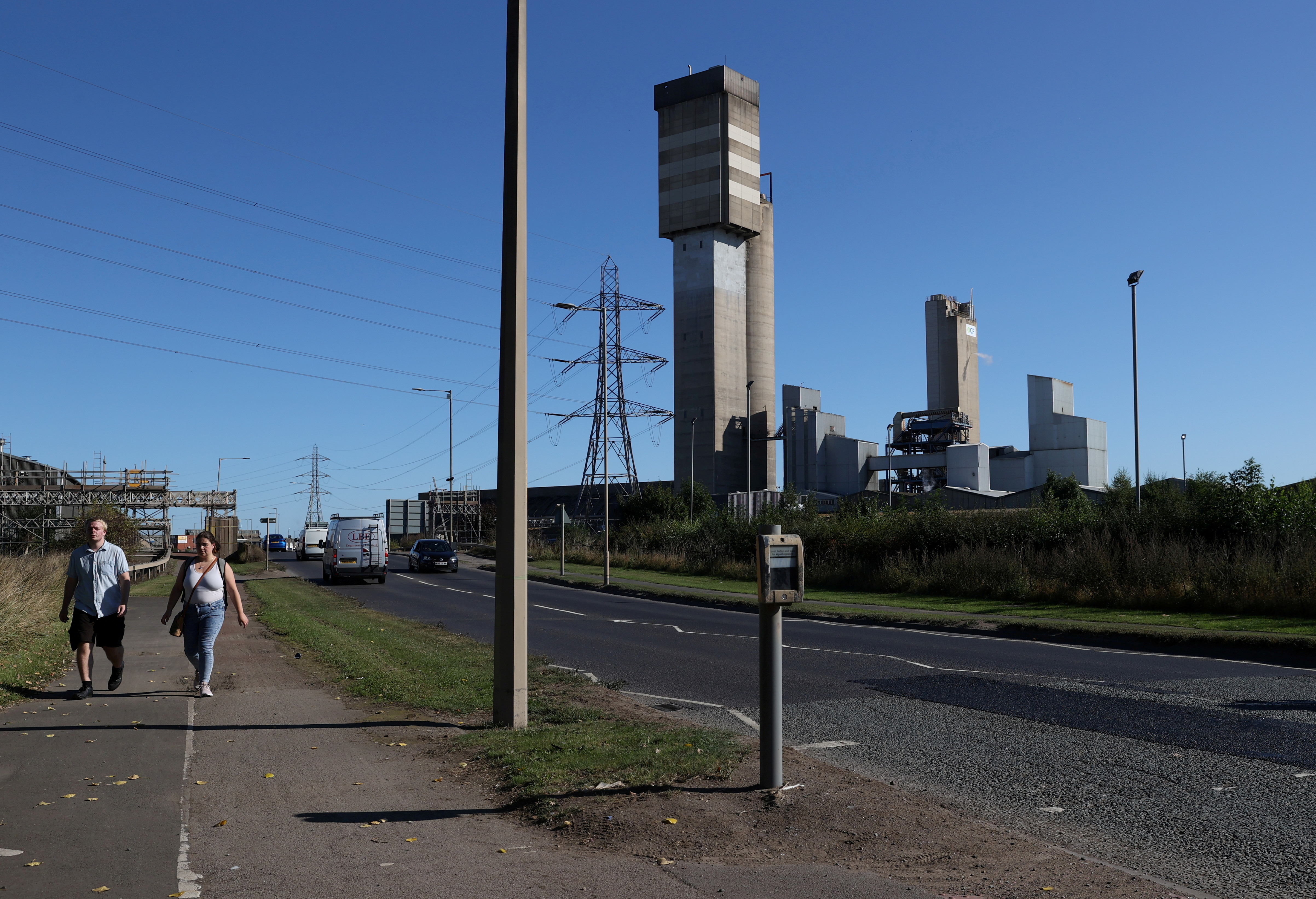 A general view of the CF industries plant in Billingham, Britain September 20, 2021. REUTERS/Lee Smith/File Photo