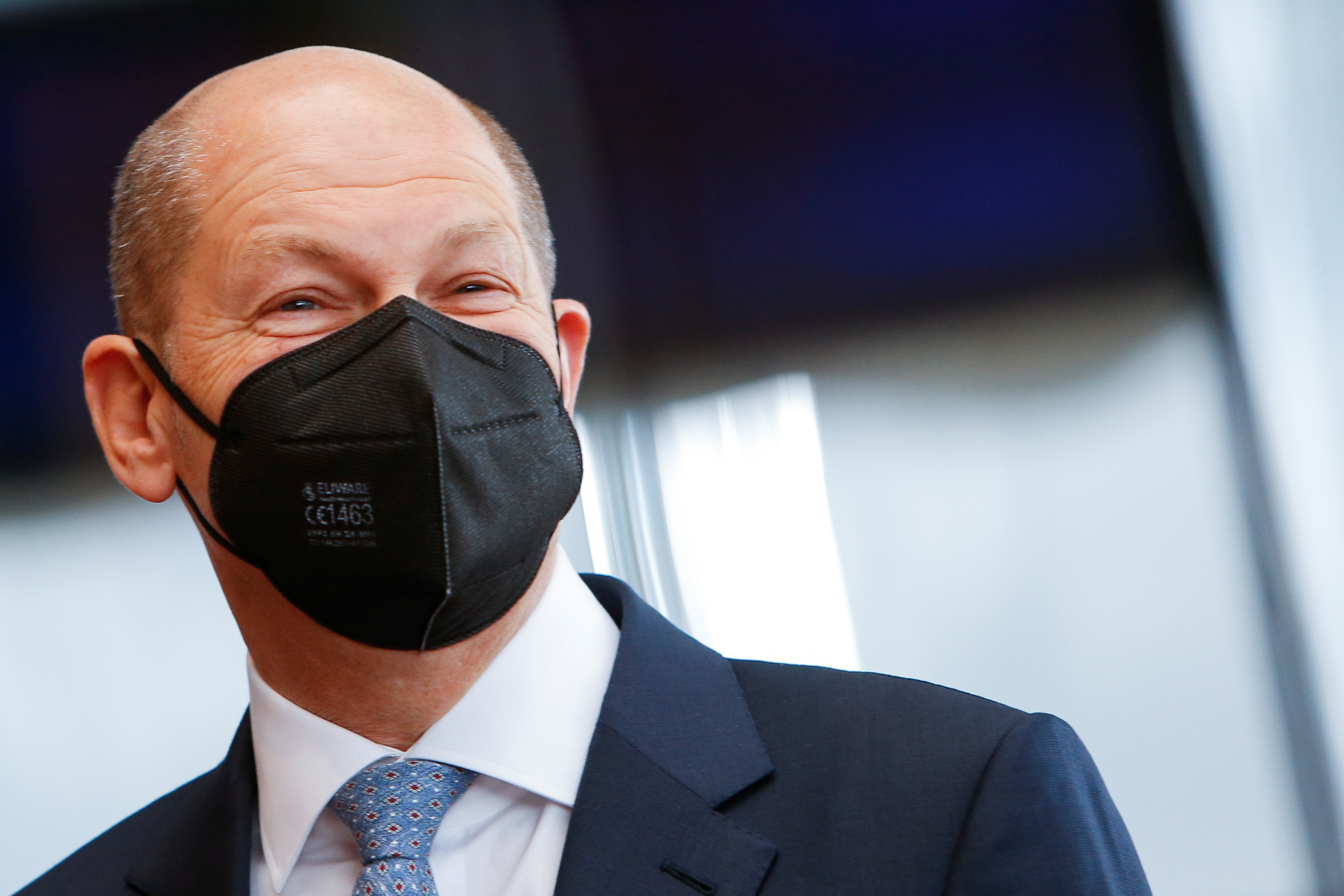 German Finance Minister Olaf Scholz arrives to testify before a parliament committee investigating Wirecard, in Berlin, Germany April 22, 2021. REUTERS/Michele Tantussi/Pool