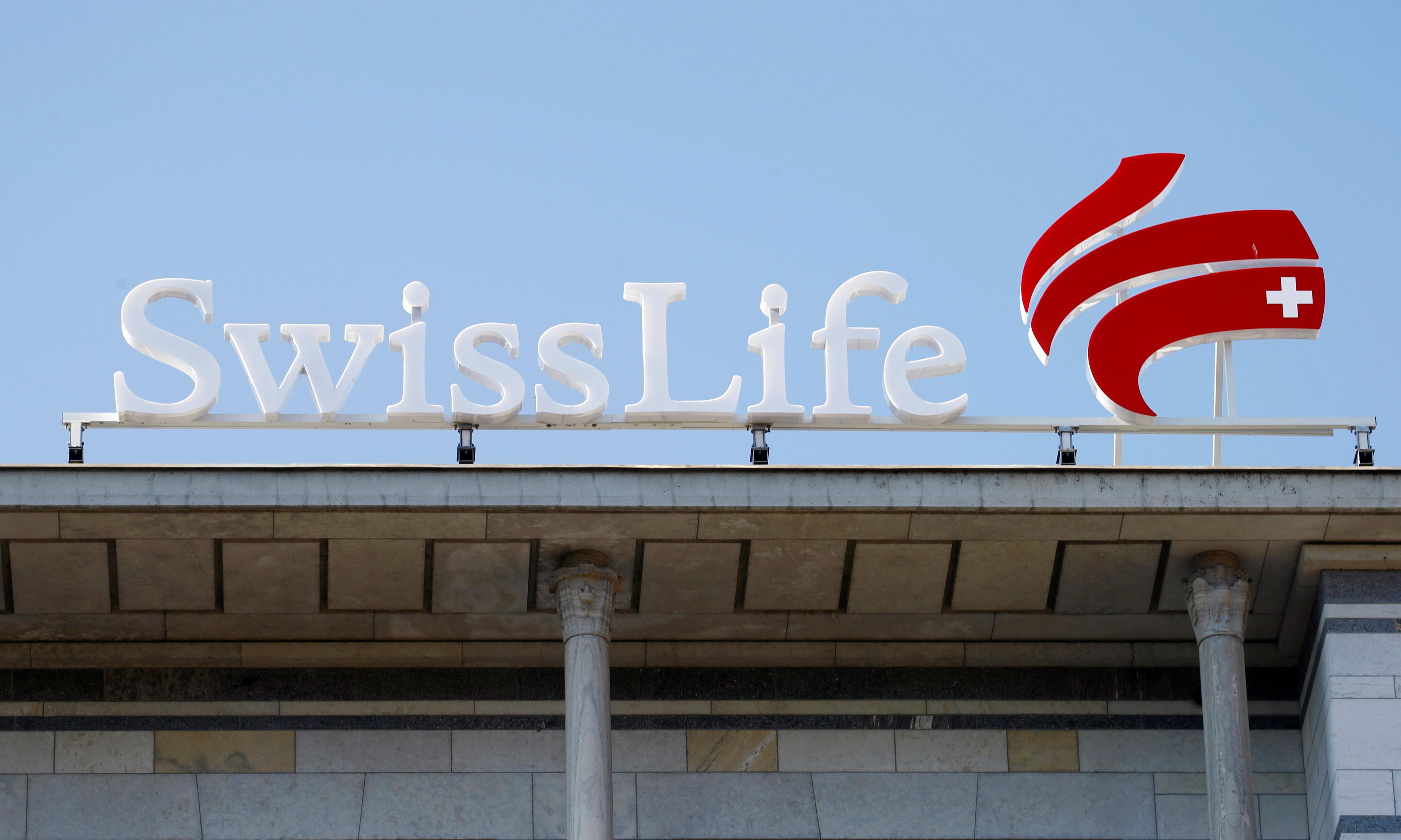 The logo of insurer Swiss Life is seen at its headquarters in Zurich, Switzerland March 2, 2021. REUTERS/Arnd Wiegmann