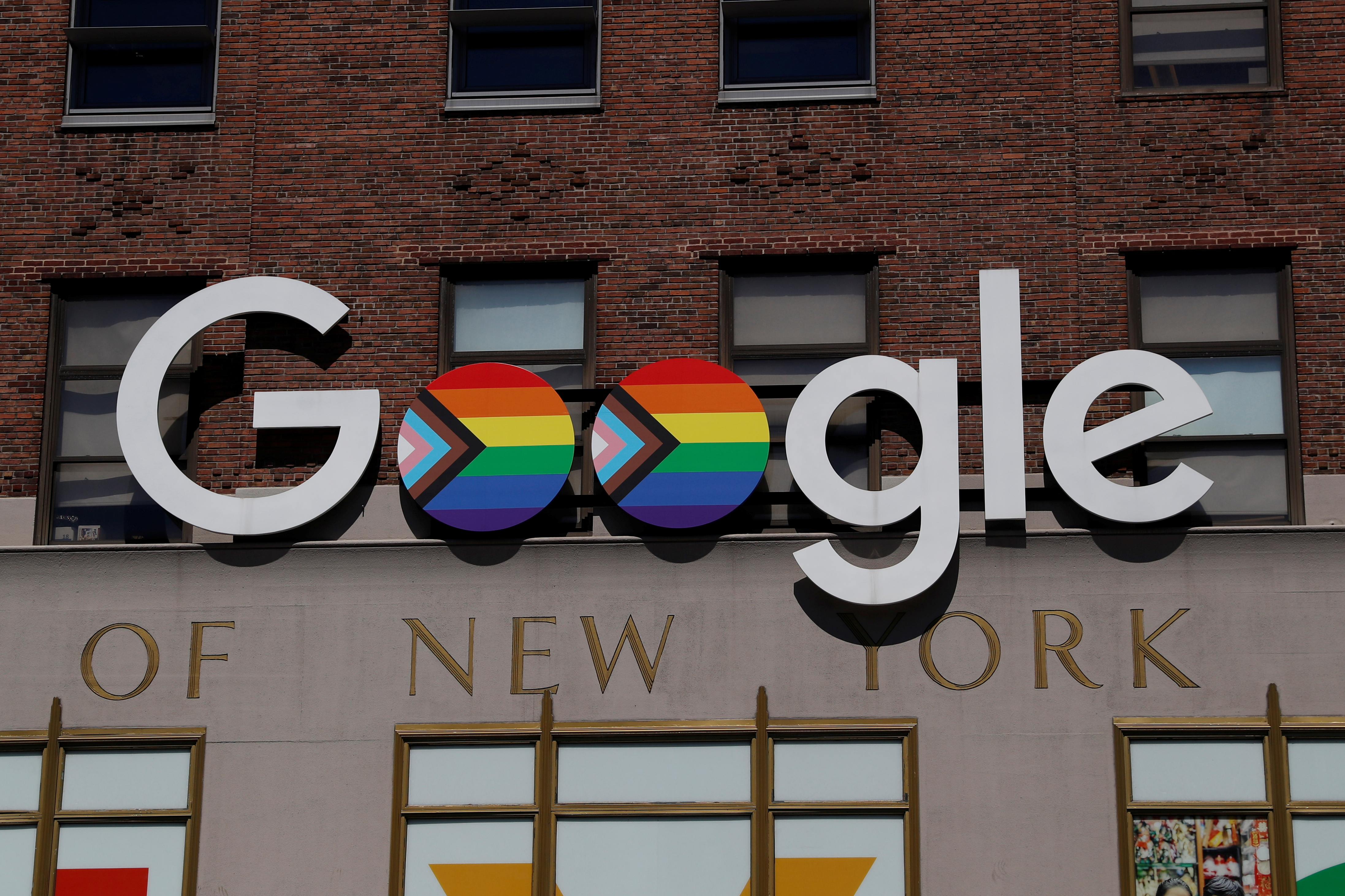 The outside of Google headquarters is seen in New York City, U.S., June 17, 2021. REUTERS/Shannon Stapleton