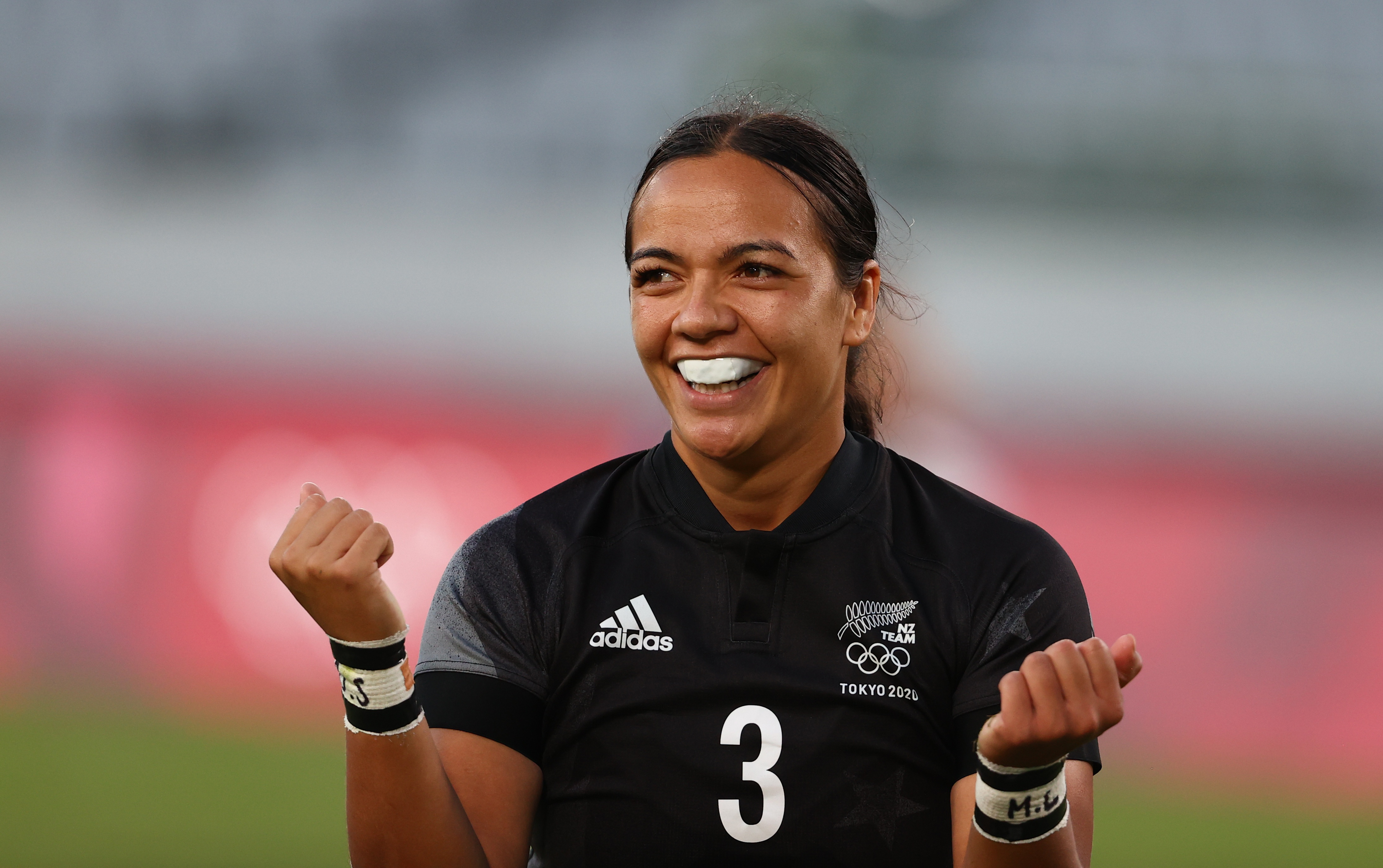 Tokyo 2020 Olympics - Rugby Sevens - Women - Gold medal match - New Zealand v France - Tokyo Stadium - Tokyo, Japan - July 31, 2021. Stacey Fluhler of New Zealand. REUTERS/Siphiwe Sibeko