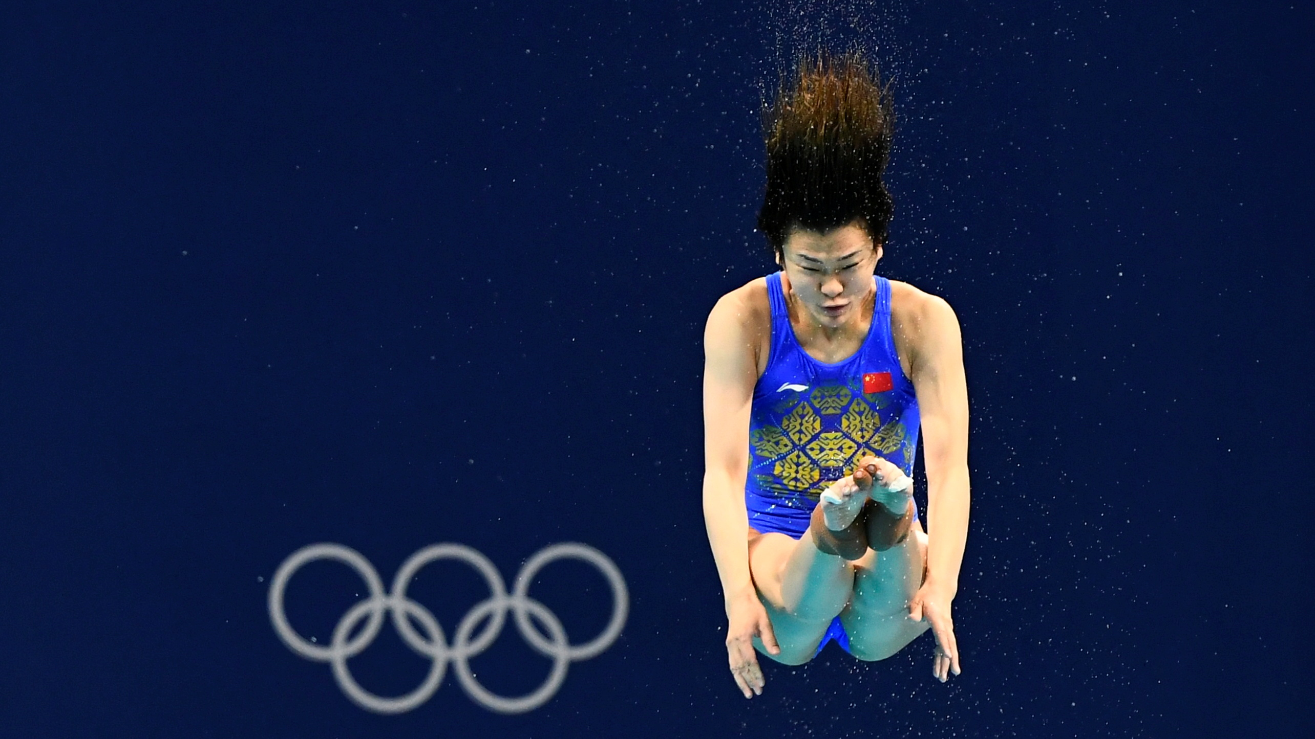 Tokyo 2020 Olympics - Diving - Women's 3m Springboard - Semifinal - Tokyo Aquatics Centre, Tokyo, Japan - July 31, 2021. Tingmao Shi of China in action REUTERS/Piroschka Van De Wouw