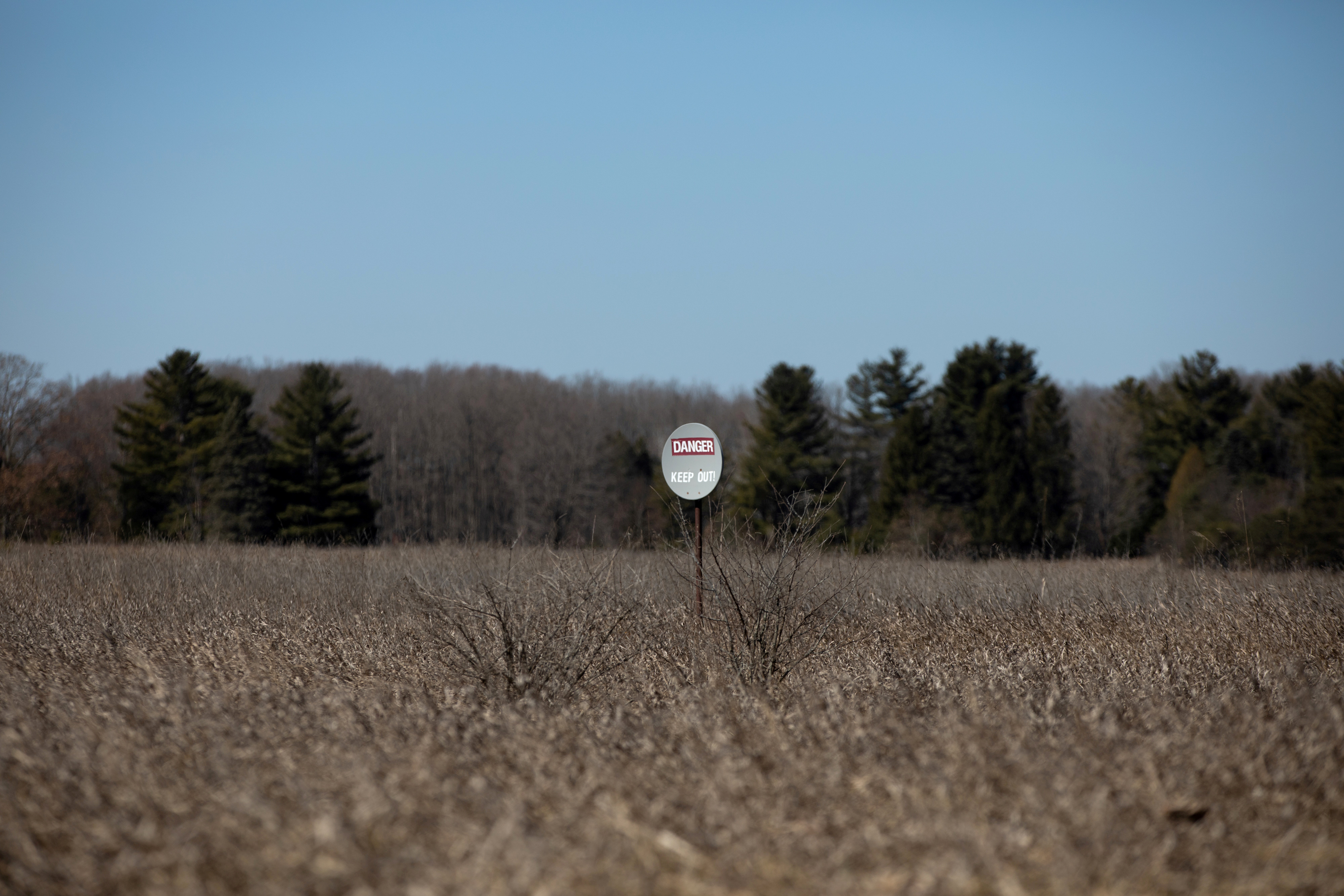 A piece of land that has a federal drilling lease issued for oil and gas development is seen in Mecosta County, Michigan, U.S., March 20, 2021. Picture taken March 20, 2021.  REUTERS/Emily Elconin/File Photo