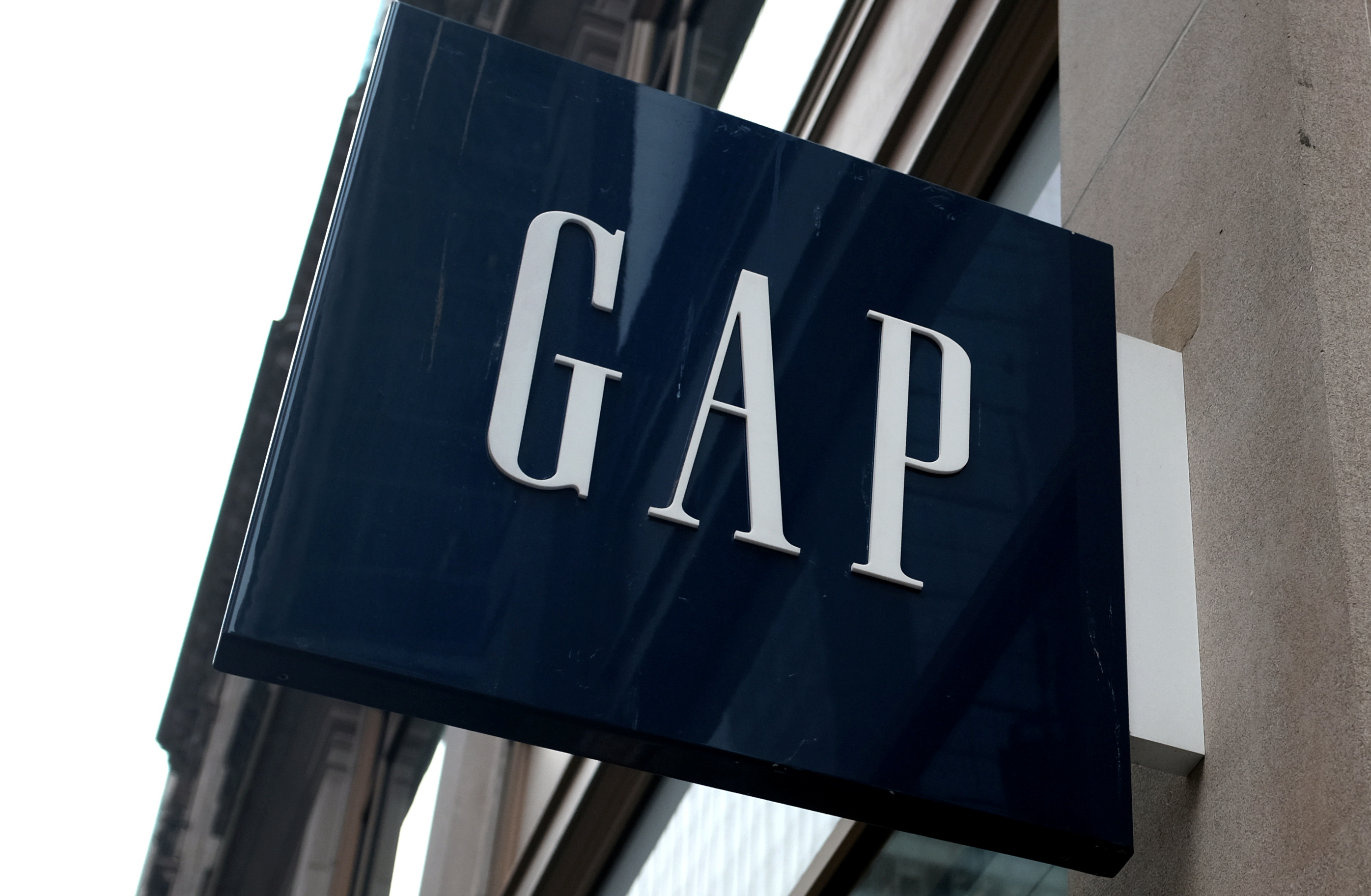 A sign hangs outside a GAP clothing retail store in Manhattan, New York, U.S., May 13, 2016. REUTERS/Mike Segar