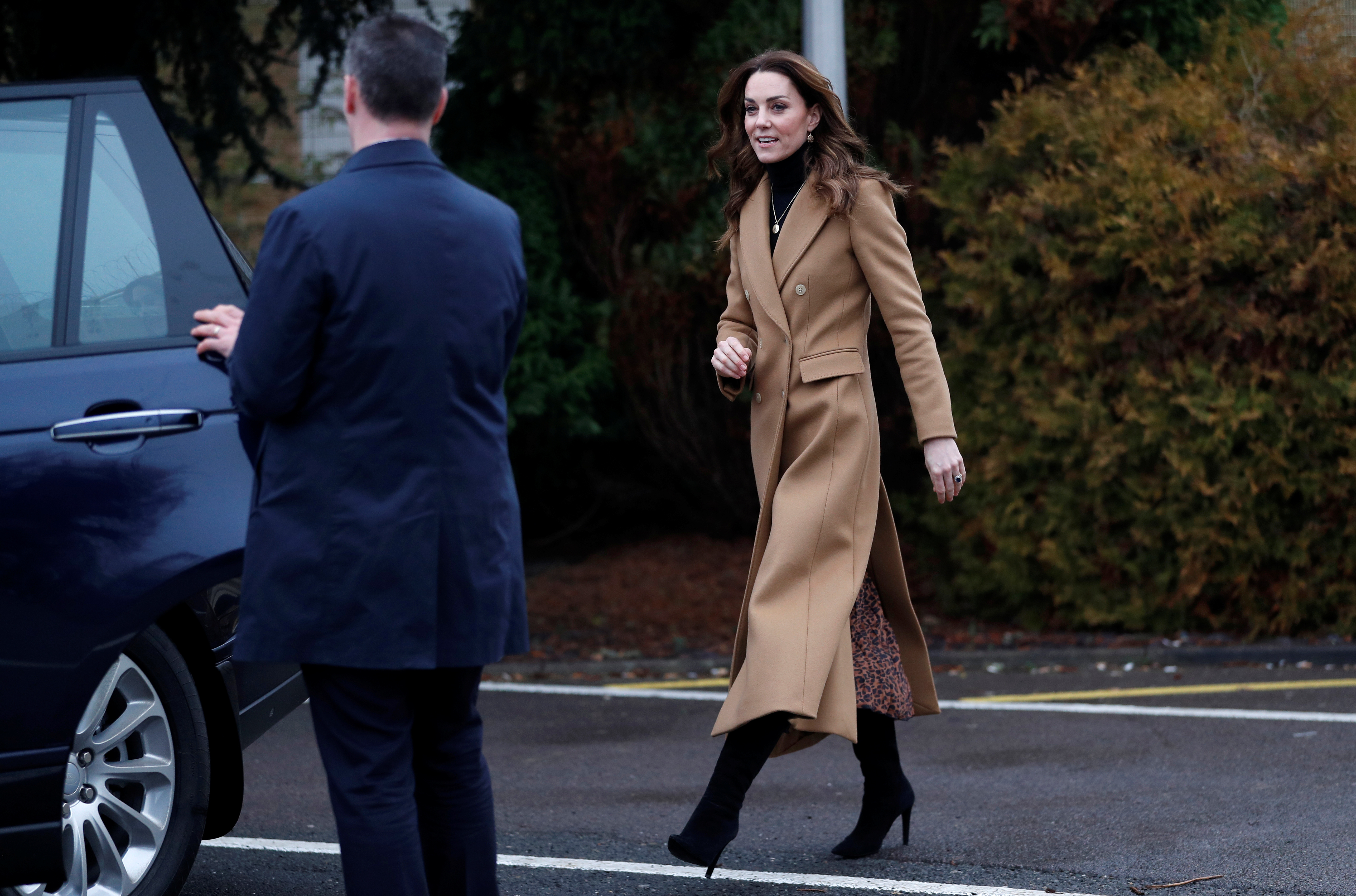 Britain's Catherine, Duchess of Cambridge, leaves after a visit to HMP Send in Woking, Britain, January 22, 2020. REUTERS/Peter Nicholls