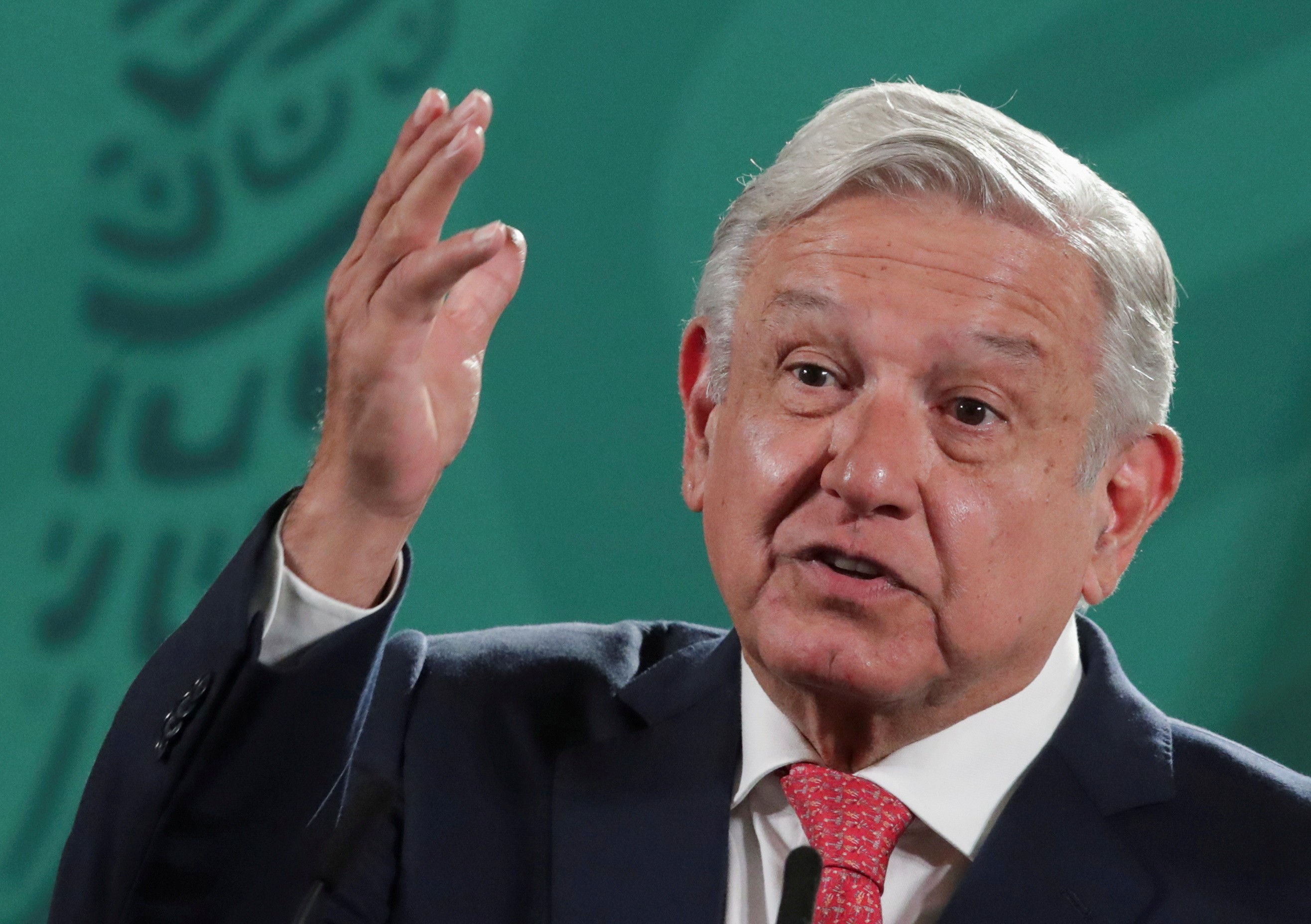 Mexico's President Andres Manuel Lopez Obrador speaks during a news conference about the results of the mid-term election, at the National Palace in Mexico City, Mexico June 7, 2021. REUTERS/Henry Romero/File Photo