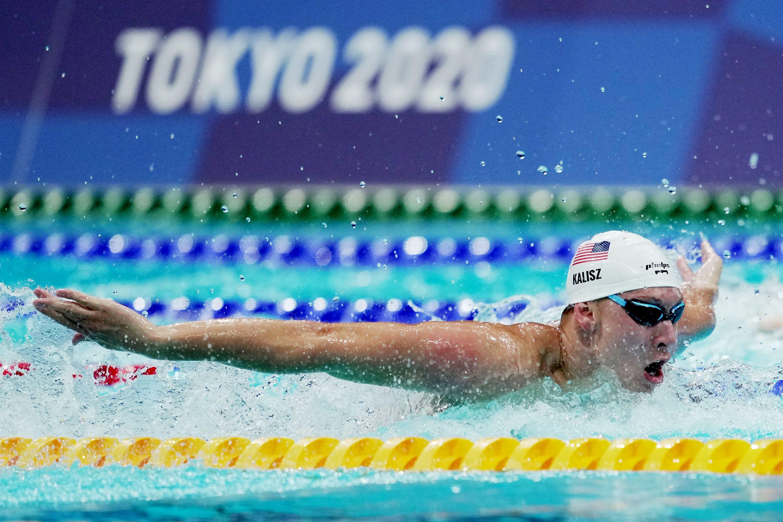 Tokyo 2020 Olympics - Swimming - Men's 400m Individual Medley - Finals - Tokyo Aquatics Centre - Tokyo, Japan - July 25, 2021. Chase Kalisz of the United States in action. REUTERS/Aleksandra Szmigiel