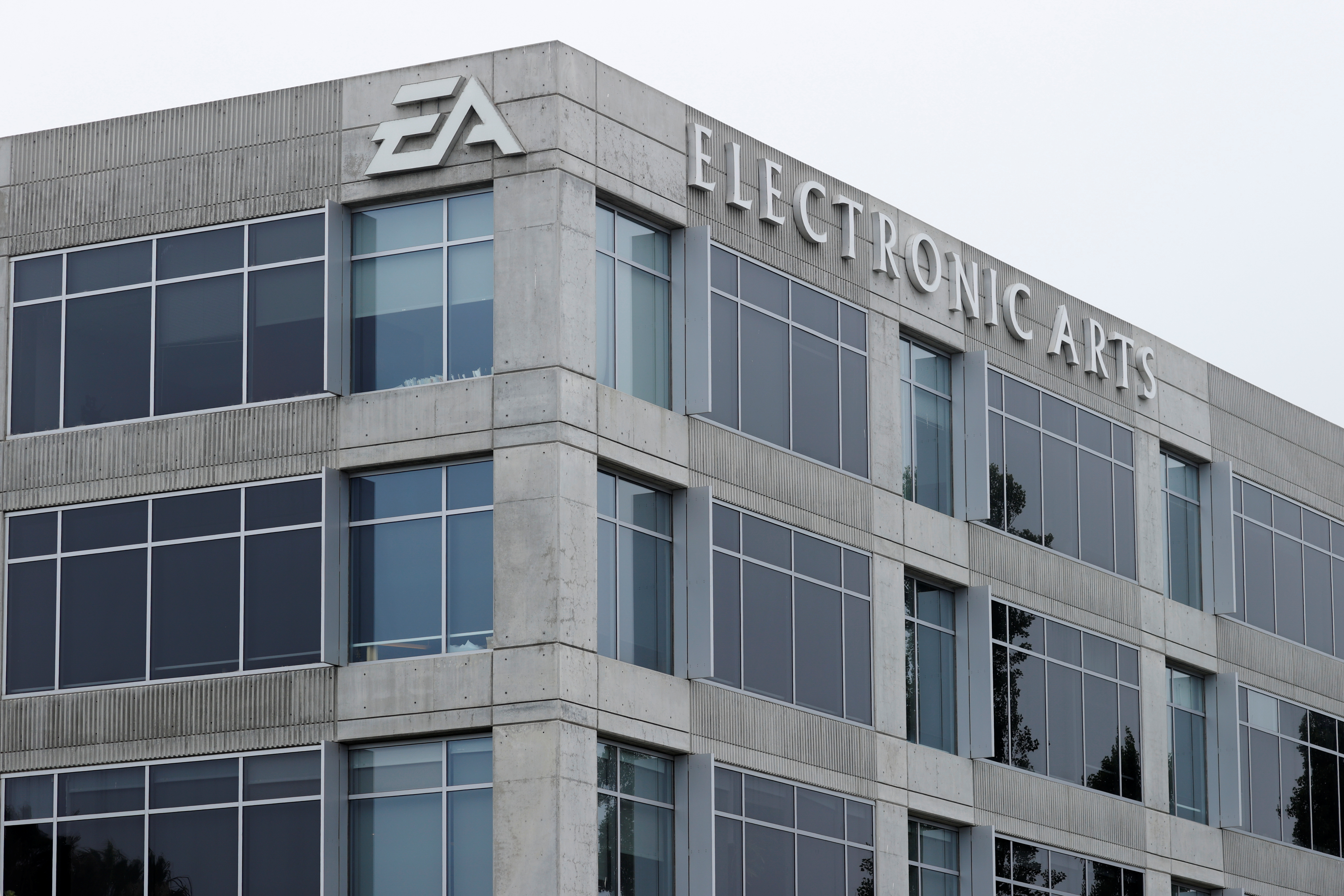 An Electronic Arts office building is shown in Los Angeles, California, U.S., July 27, 2020. REUTERS/Mike Blake