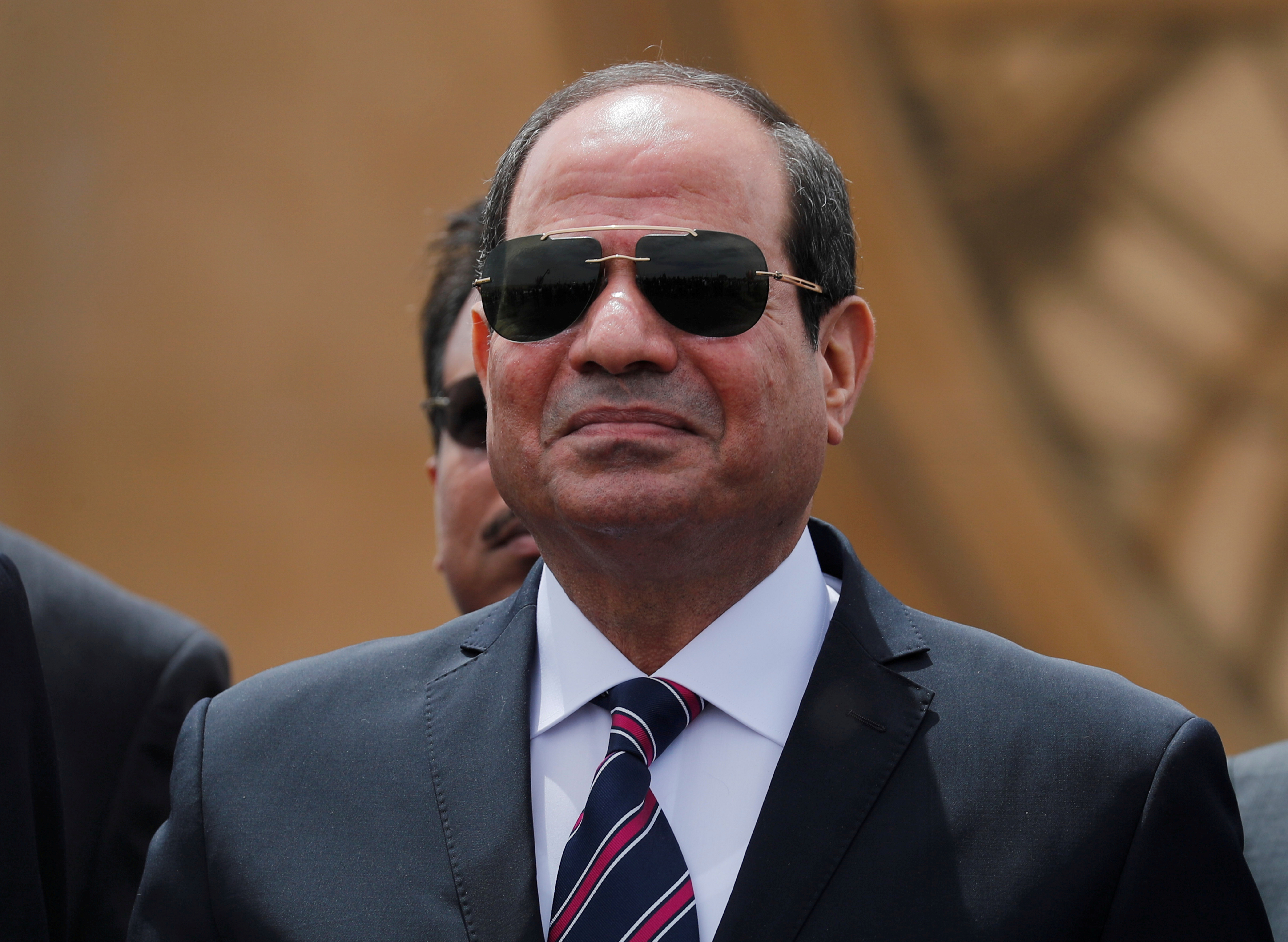 Egyptian President Abdel Fattah al-Sisi attends the opening ceremony of floating bridges and tunnel projects executed under the Suez Canal in Ismailia, Egypt May 5, 2019. REUTERS/Amr Abdallah Dalsh