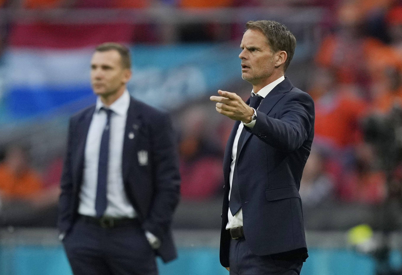Soccer Football - Euro 2020 - Group C - Netherlands v Ukraine - Johan Cruyff Arena, Amsterdam, Netherlands - June 13, 2021 Netherlands coach Frank de Boer Pool via REUTERS/Peter Dejong