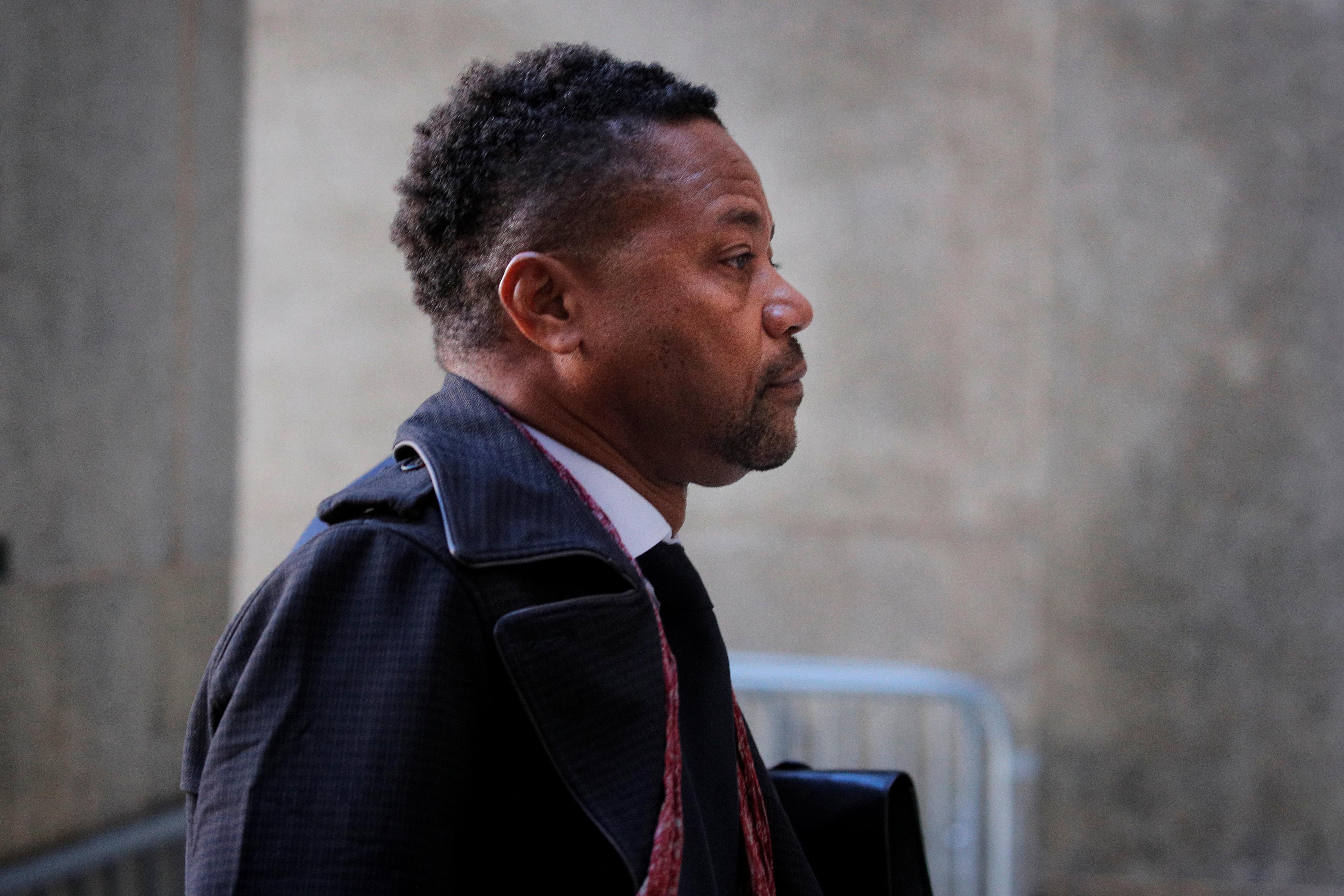 Actor Cuba Gooding Jr. arrives at New York Criminal Court in Manhattan borough of New York City, New York, U.S., January 22, 2020. REUTERS/Brendan McDermid