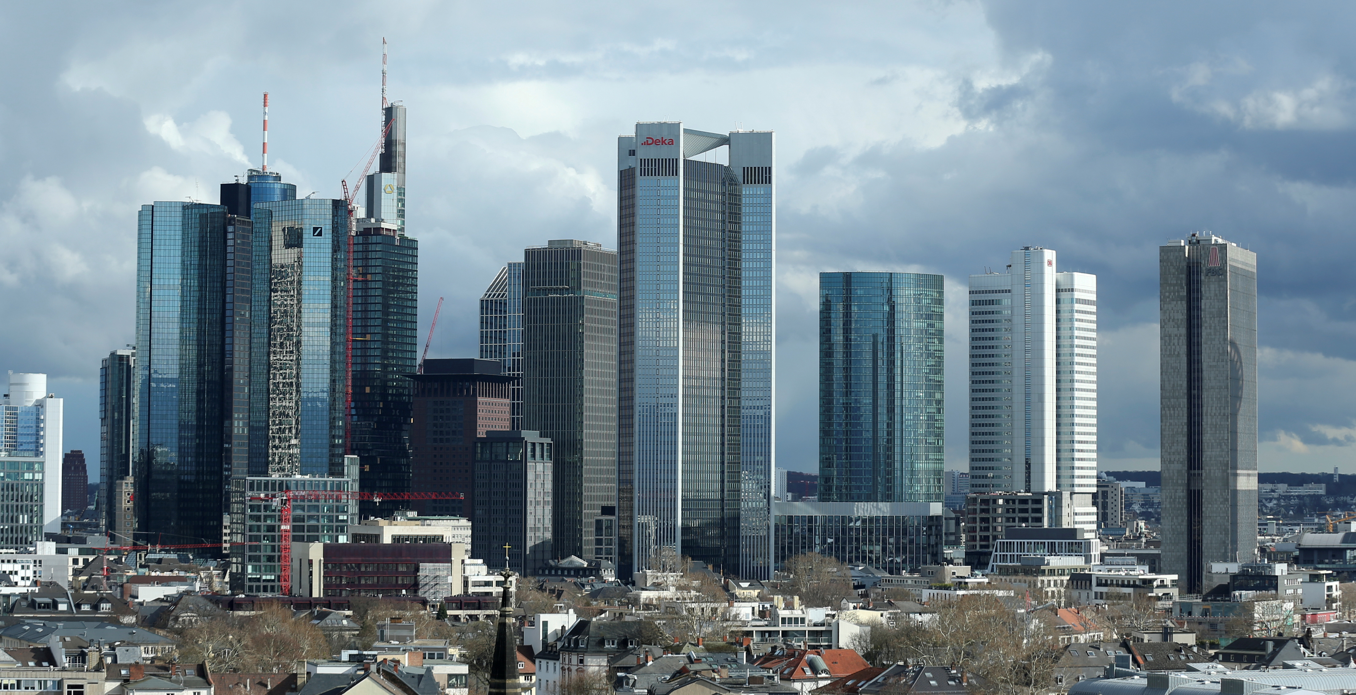 The financial district in Frankfurt, Germany, March 18, 2019. REUTERS/Ralph Orlowski