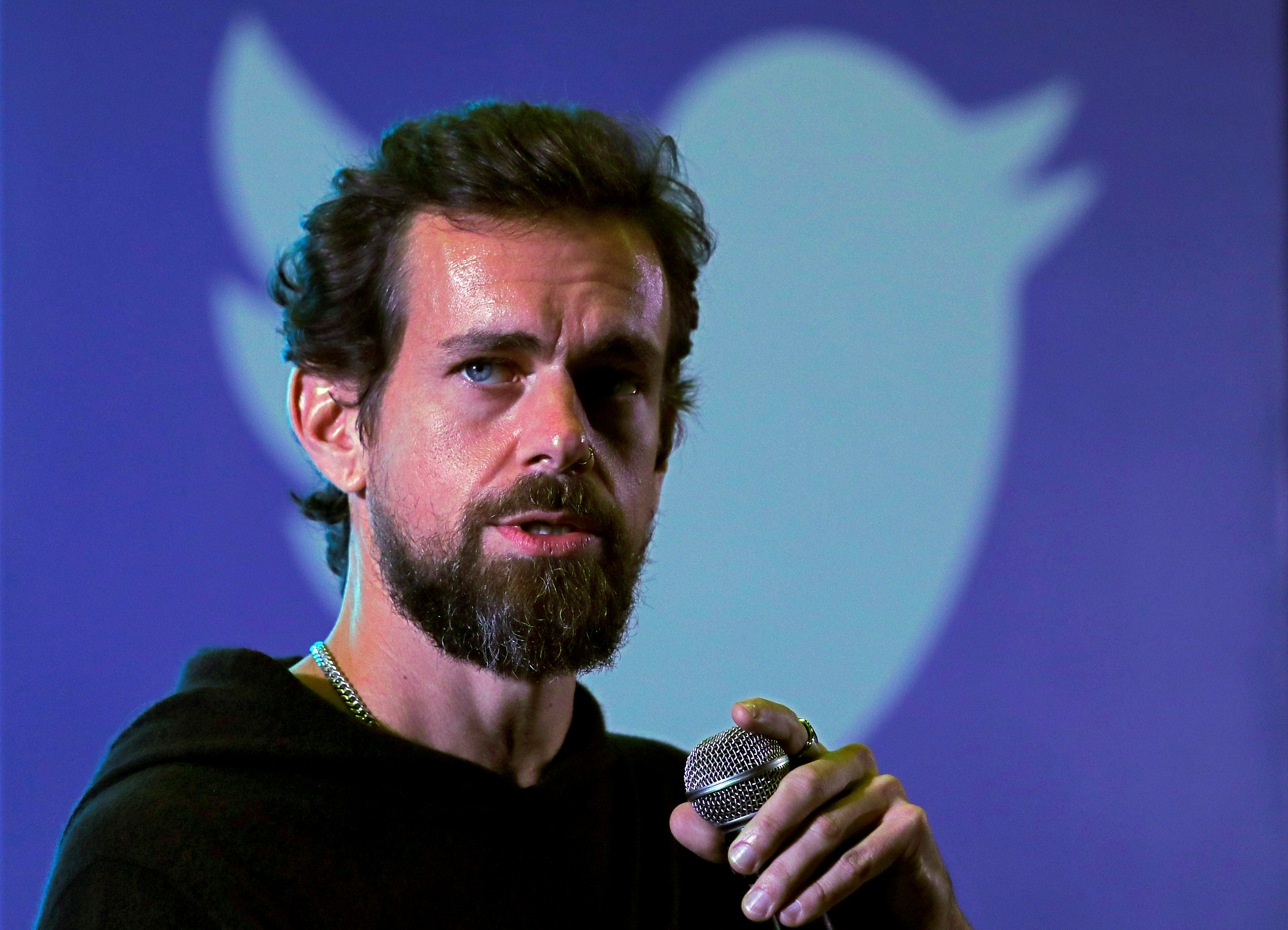 Twitter CEO Jack Dorsey addresses students during a town hall at the Indian Institute of Technology (IIT) in New Delhi, India, November 12, 2018. REUTERS/Anushree Fadnavis//File Photo