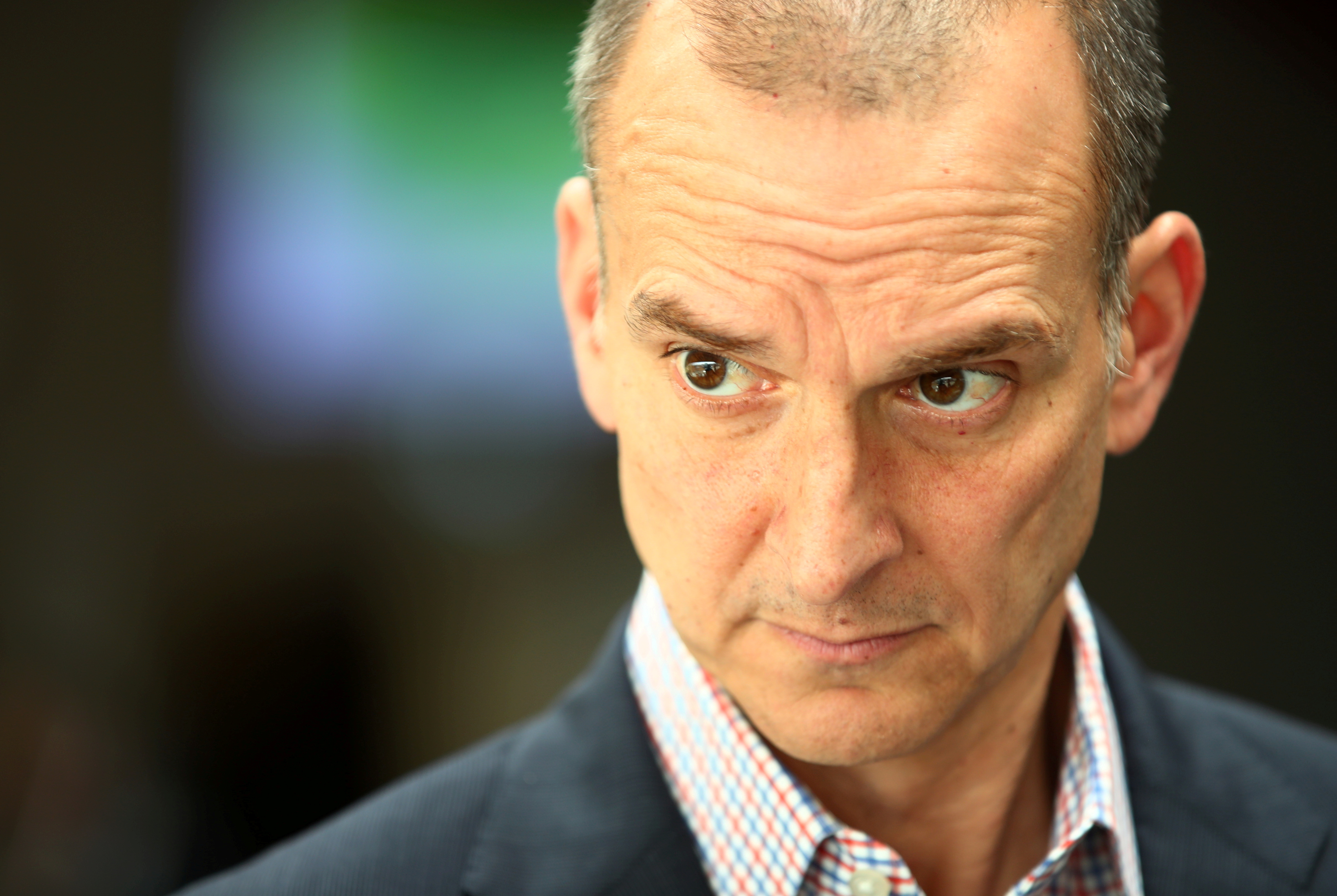 The United States Anti-Doping Agency (USDA) Chief Executive Officer, Travis Tygart, attends an interview with Reuters during the World Anti-Doping Agency (WADA) Symposium in Ecublens near Lausanne, Switzerland, March 13, 2019. REUTERS/Denis Balibouse/File Photo