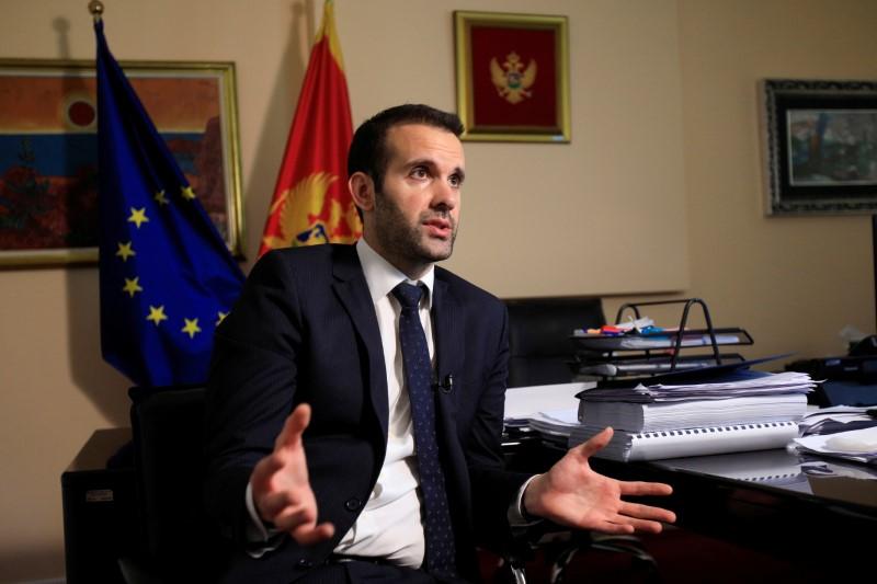 Montenegrin Finance Minister Milojko Spajic speaks during an interview with Reuters in Podgorica, Montenegro, May 25, 2021.  REUTERS/Stevo Vasiljevic/File Photo