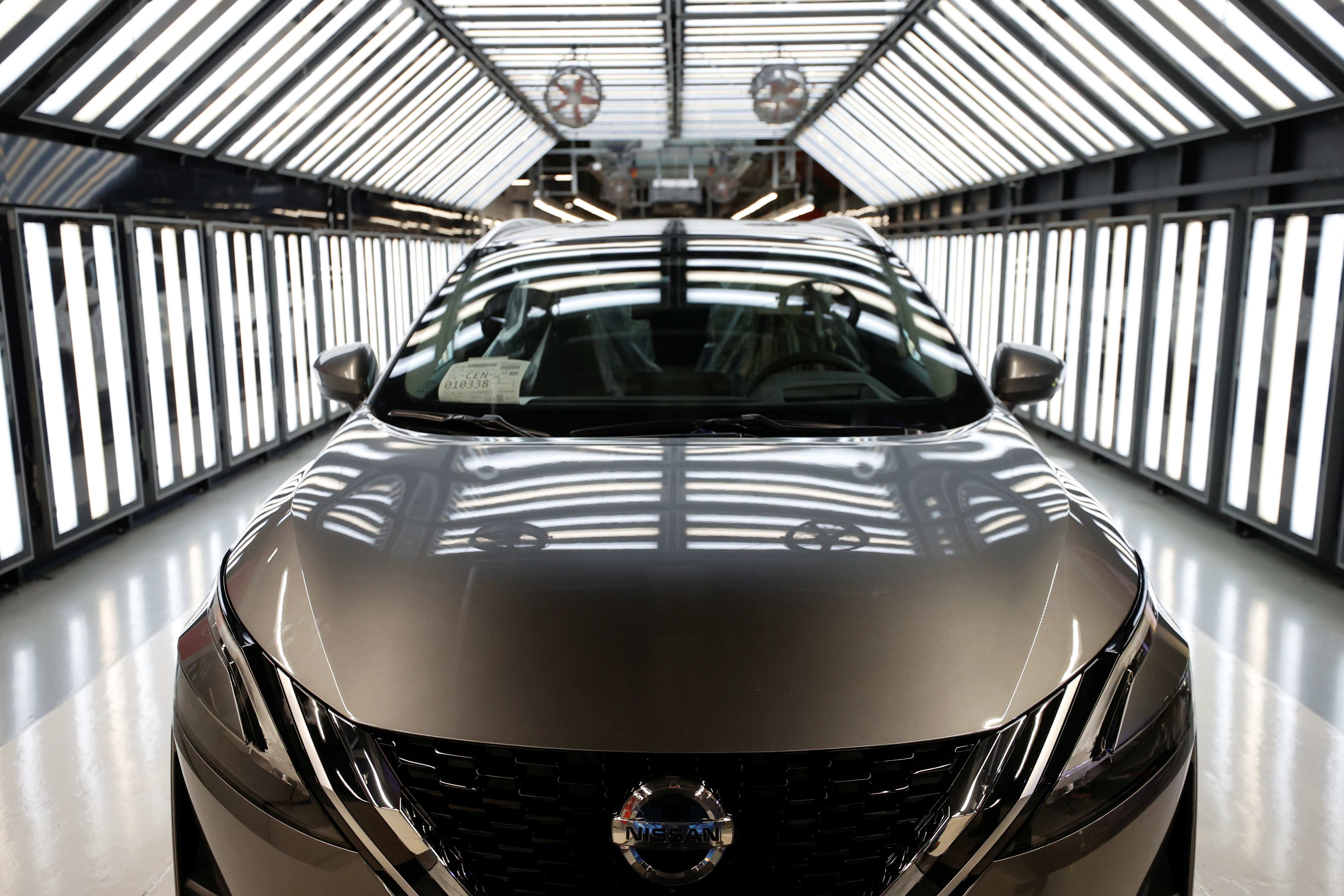A Nissan Qashqai is seen ahead of a news conference at Nissan's Sunderland plant in Sunderland, Britain, July 1, 2021. REUTERS/Phil Noble