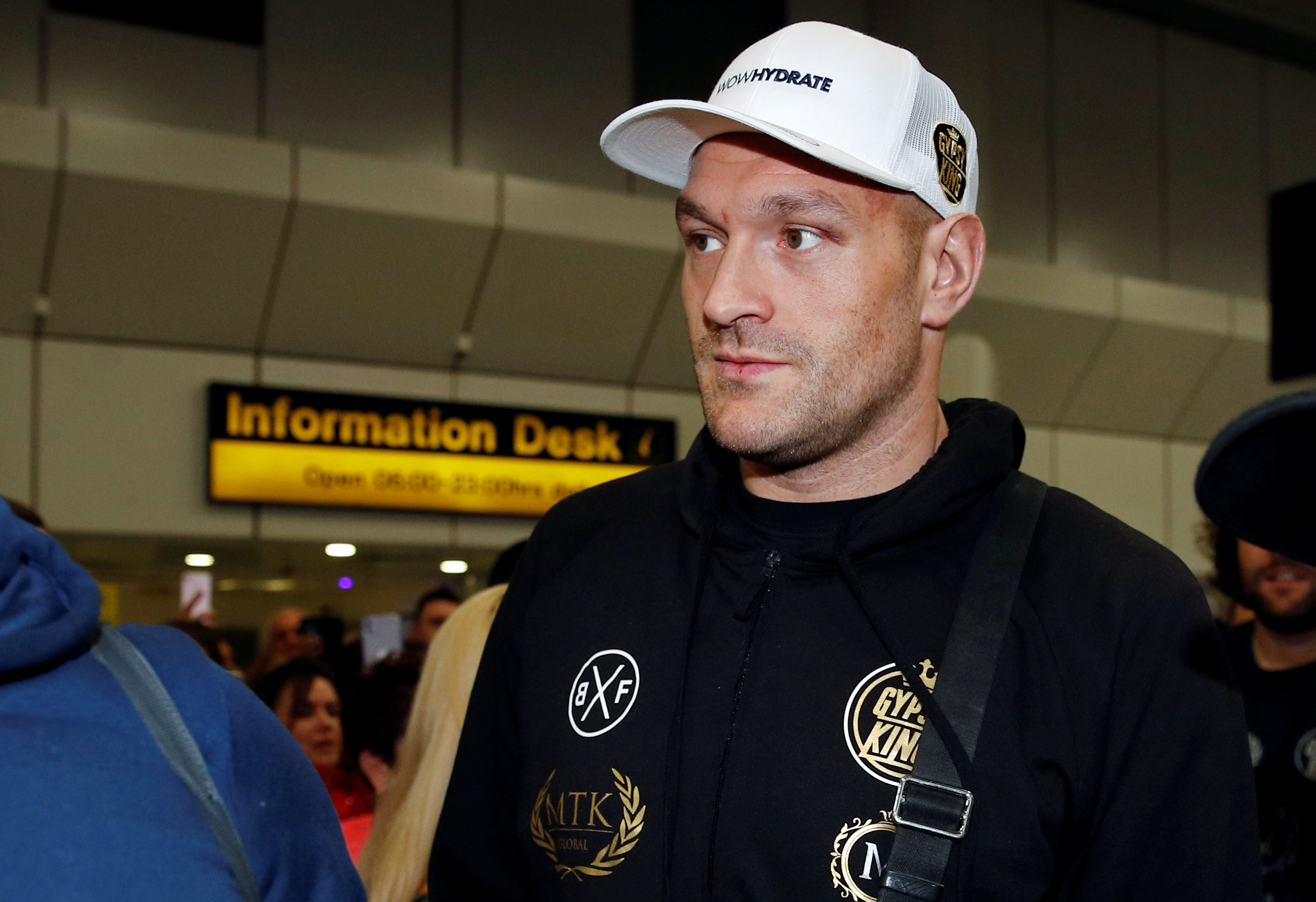 WBC Heavyweight boxing champion Tyson Fury arrives at Manchester Airport, in Manchester, Britain February 25, 2020. REUTERS/Phil Noble