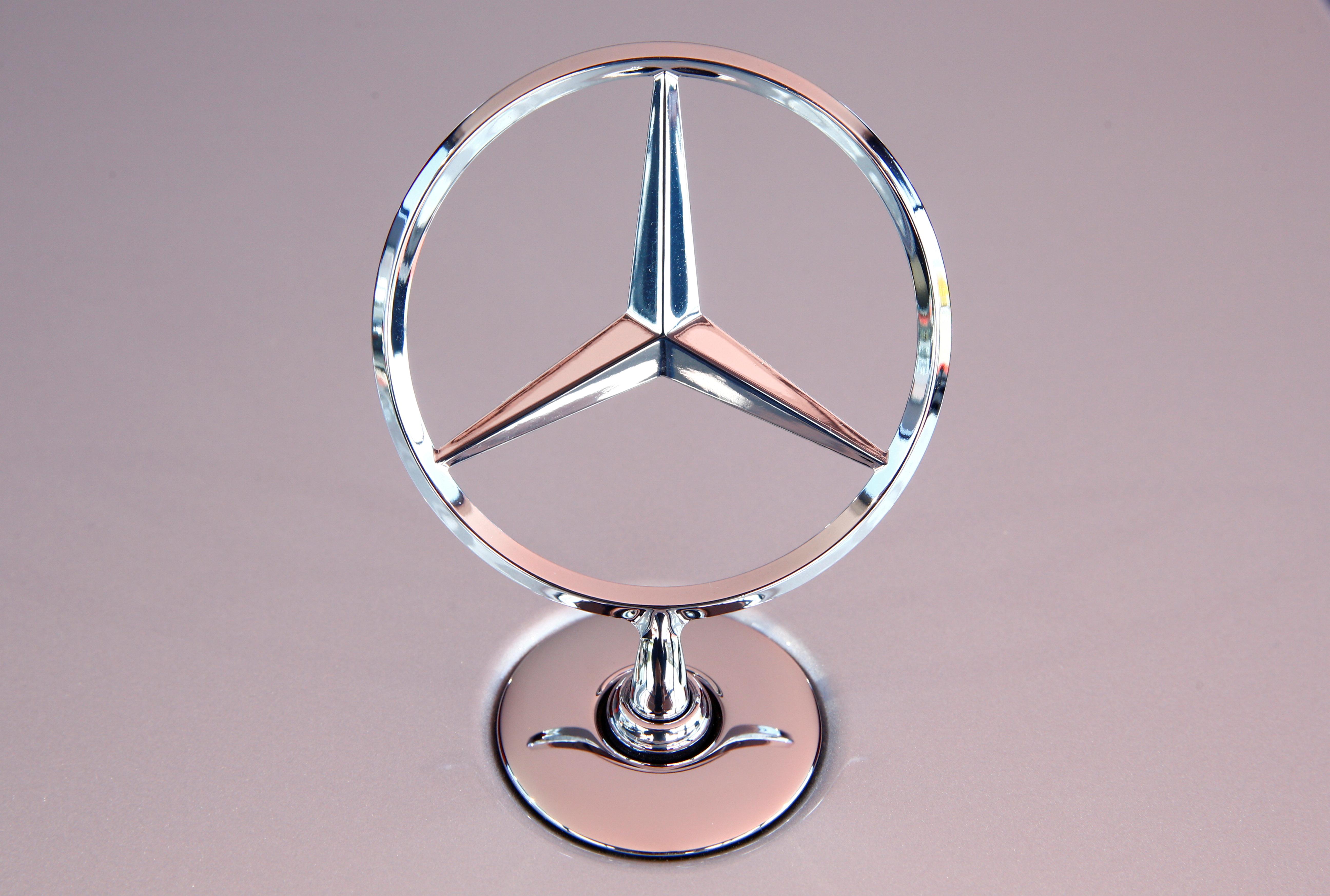 The Mercedes Benz star is seen on the bonnet of a new Mercedes-Benz S-Class limousine at the company's test center, near Immendingen, Germany October 14, 2020.   REUTERS/Arnd Wiegmann