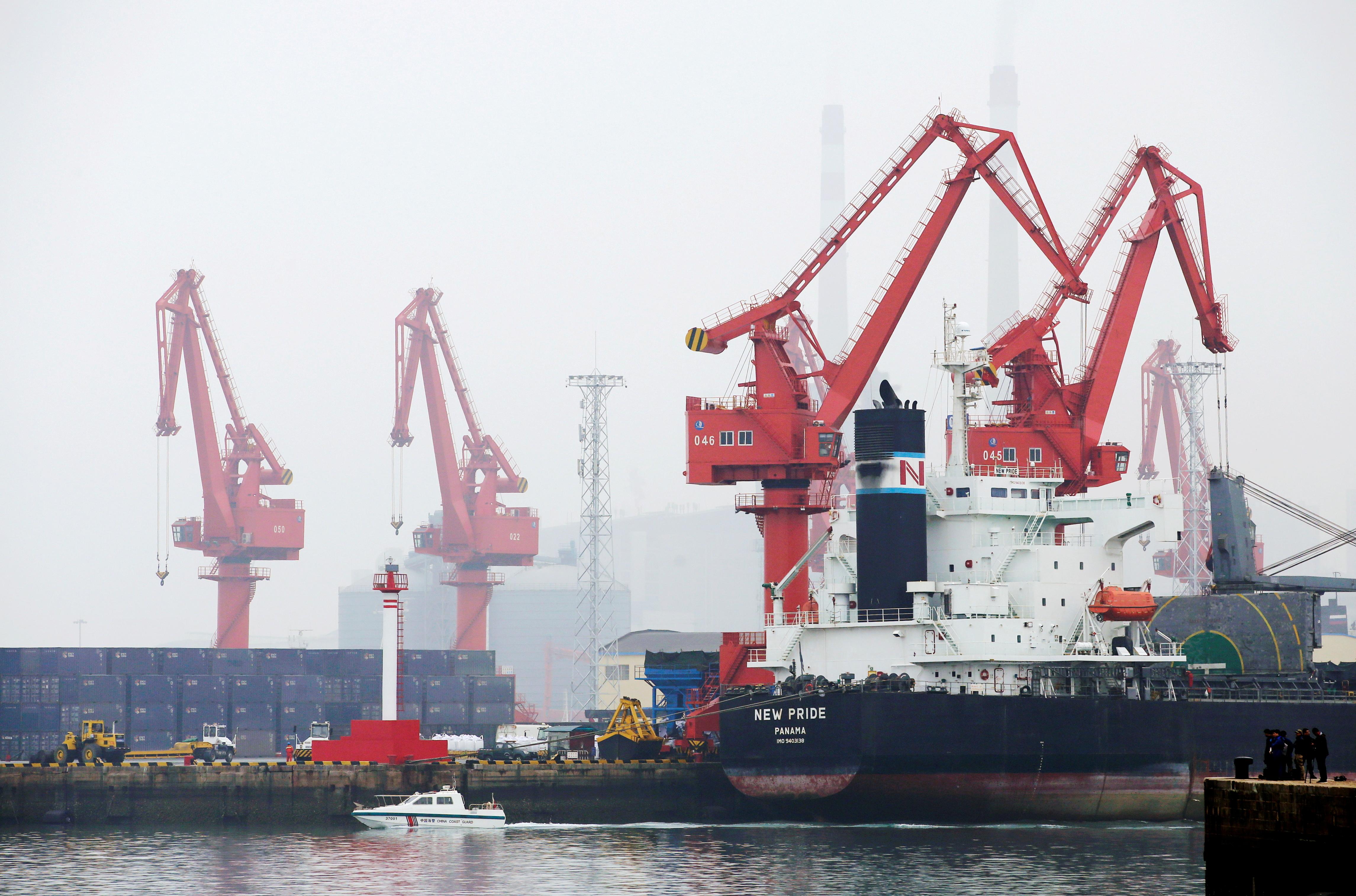 A crude oil tanker is seen at Qingdao Port, Shandong province, China, April 21, 2019. REUTERS/Jason Lee