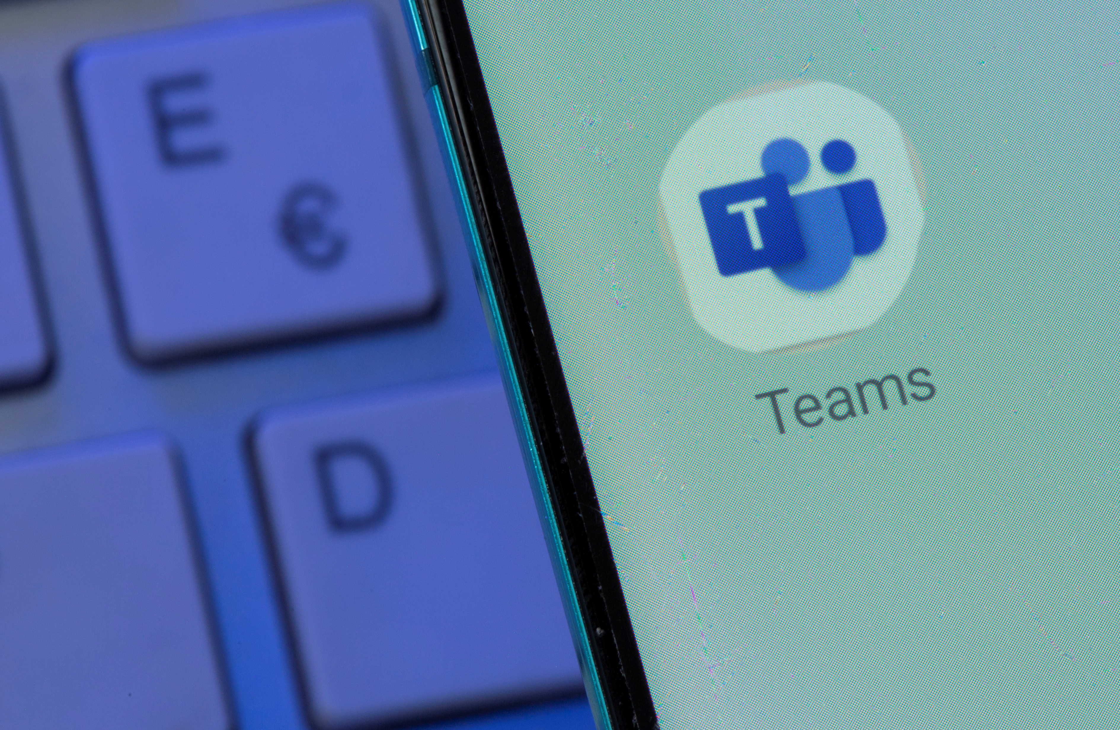 Microsoft Teams app is seen on the smartphone placed on the keyboard in this illustration taken, July 26, 2021. REUTERS/Dado Ruvic/