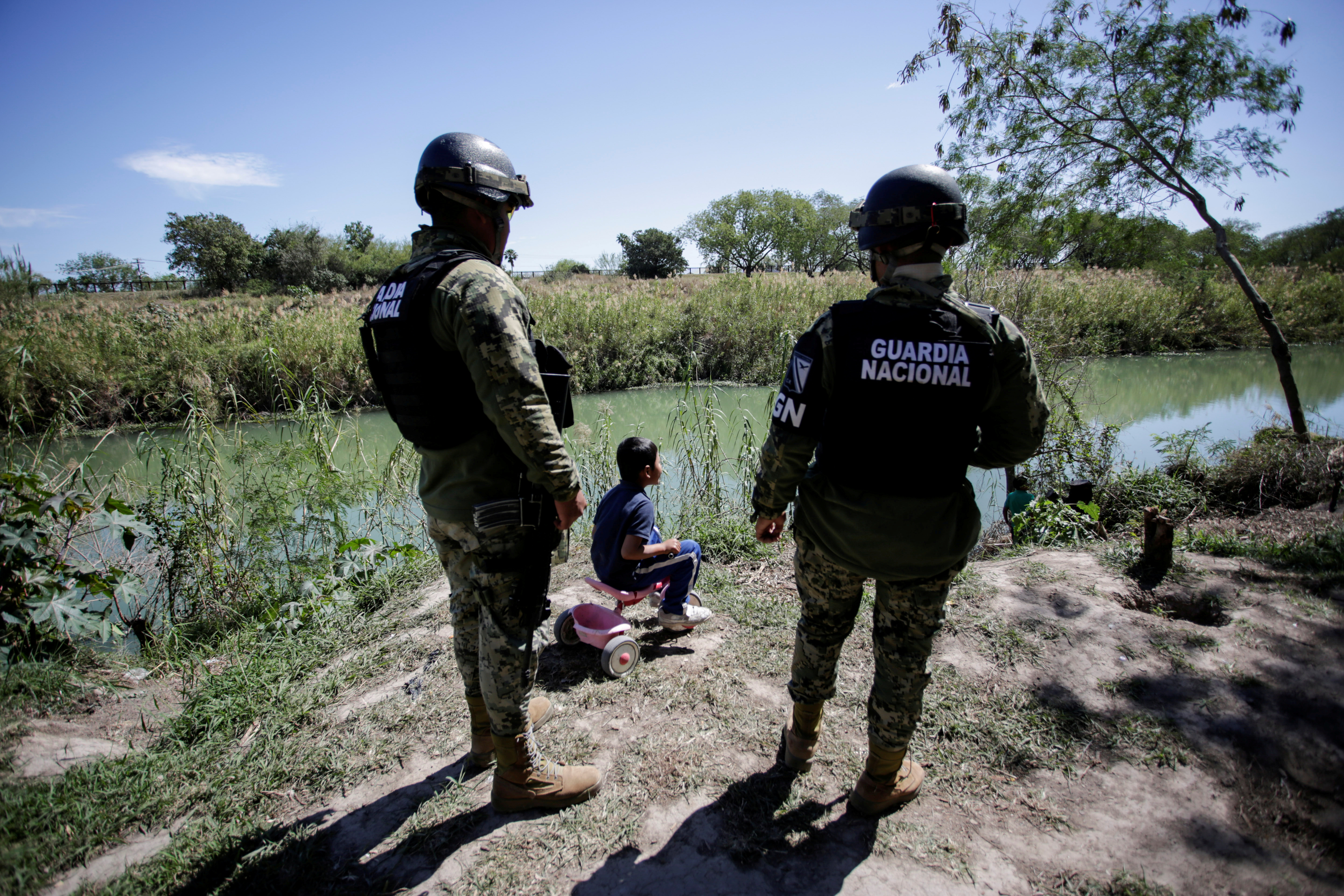 A migrant boy, an asylum seeker sent back to Mexico from the U.S. under the