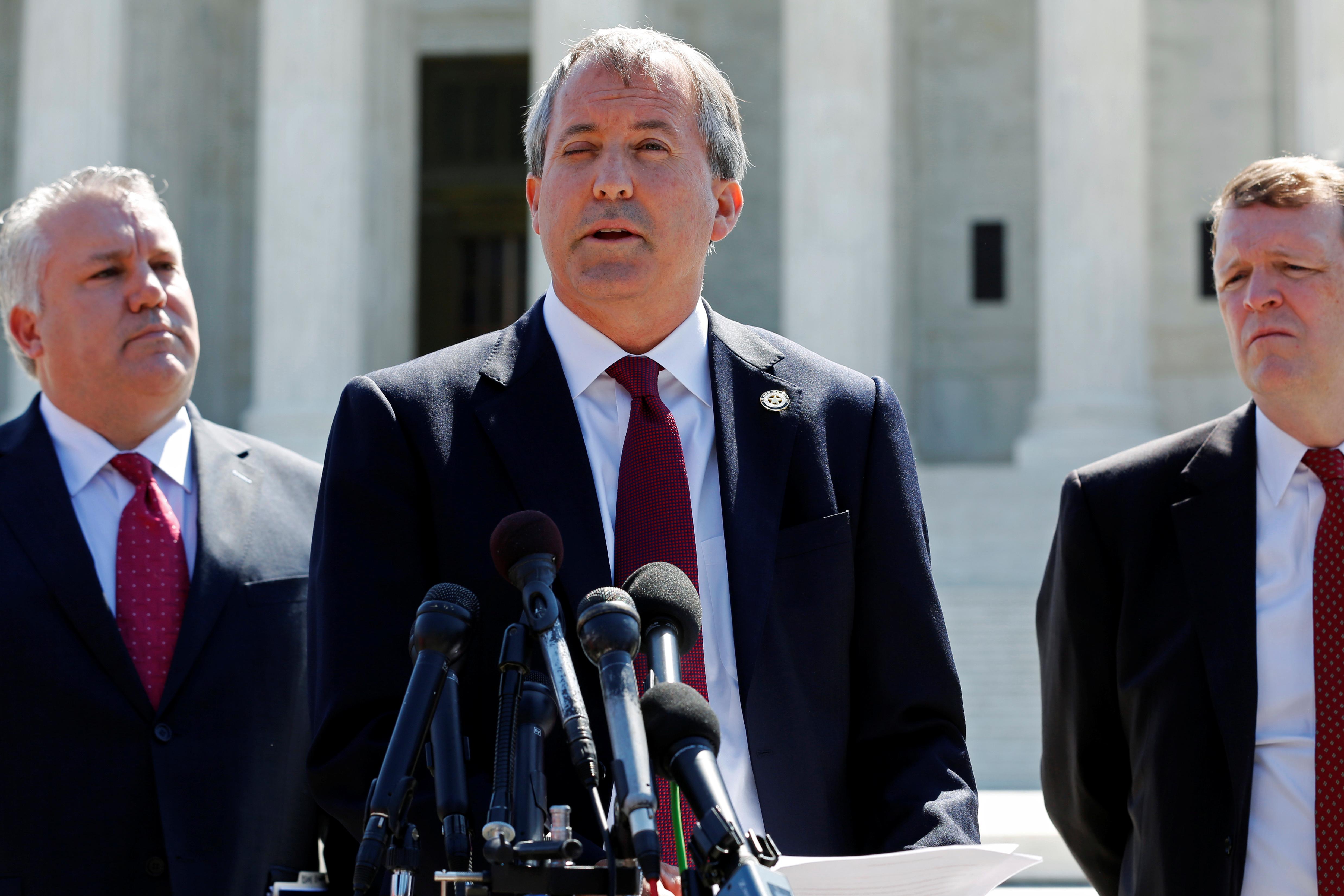 Texas Attorney General Ken Paxton in Washington, U.S. June 9, 2016. REUTERS/Jonathan Ernst