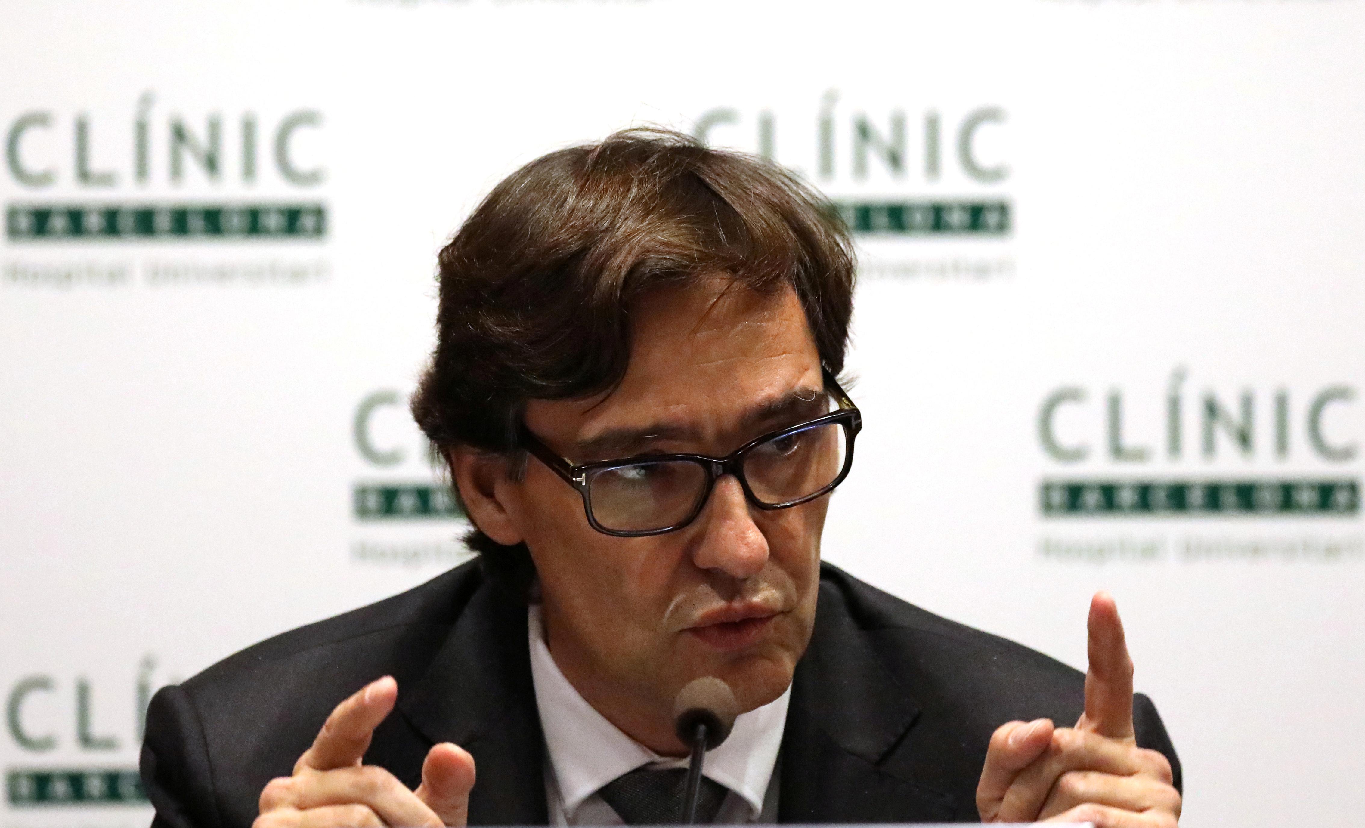 Spain's Health Minister Salvador Illa in Barcelona, Spain February 12, 2020. REUTERS/Nacho Doce/File Photo
