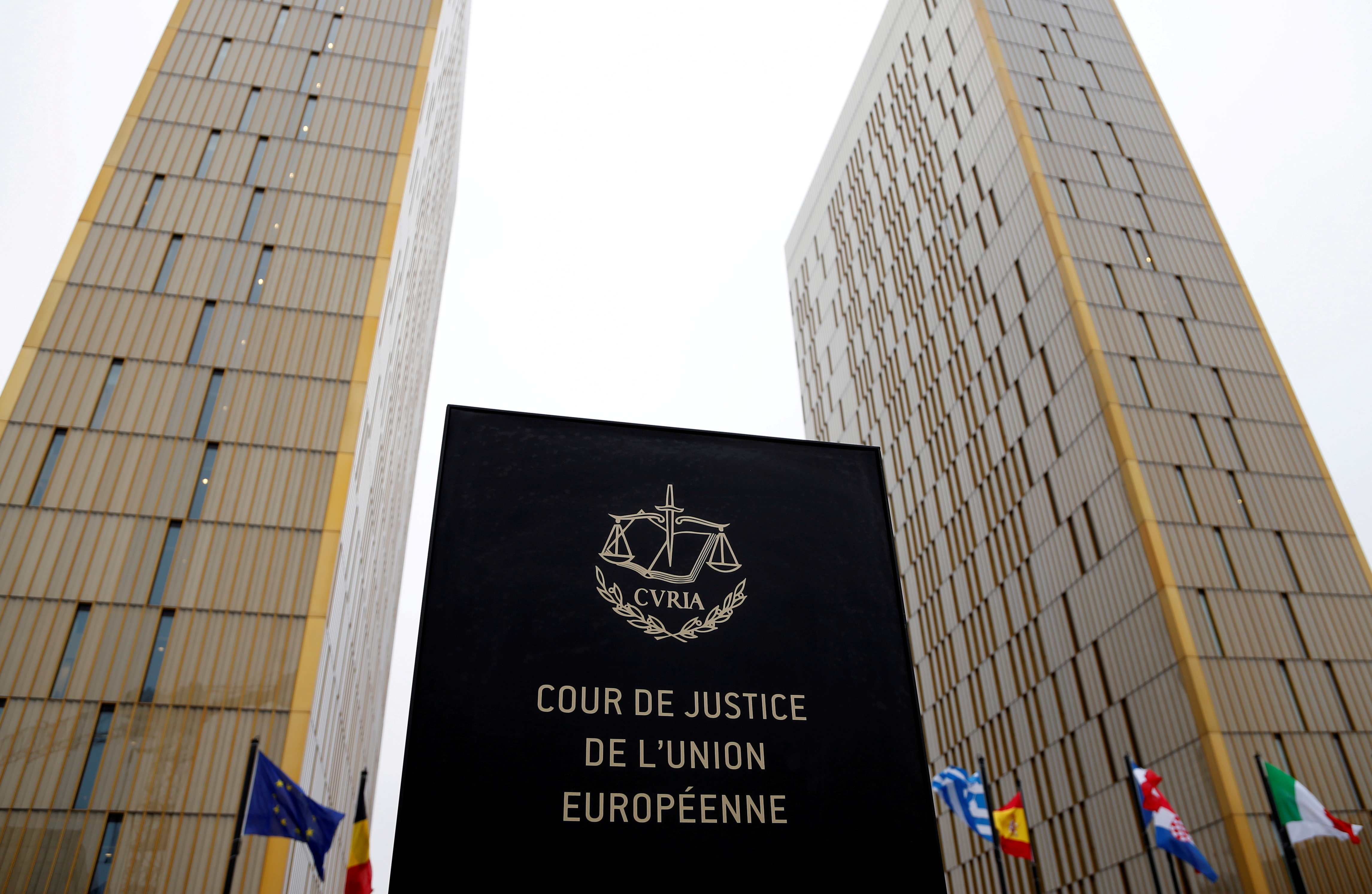 The towers of the Court of Justice of the European Union are seen in Luxembourg, January 26, 2017. Picture taken January 26, 2017. REUTERS/Francois Lenoir/File Photo