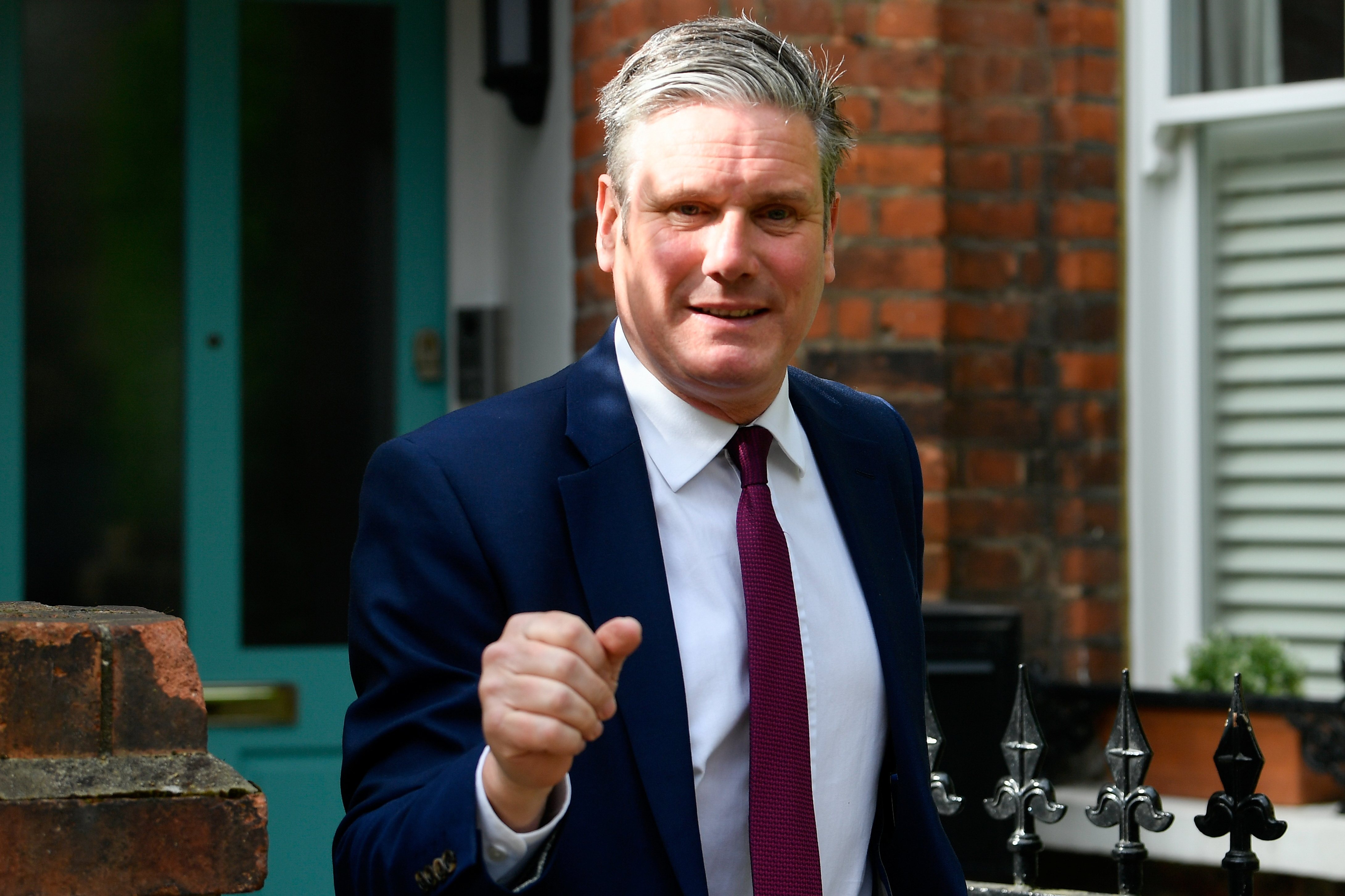 Britain's Labour Party leader, Keir Starmer leaves his home in London, Britain May 10, 2021. REUTERS/Toby Melville