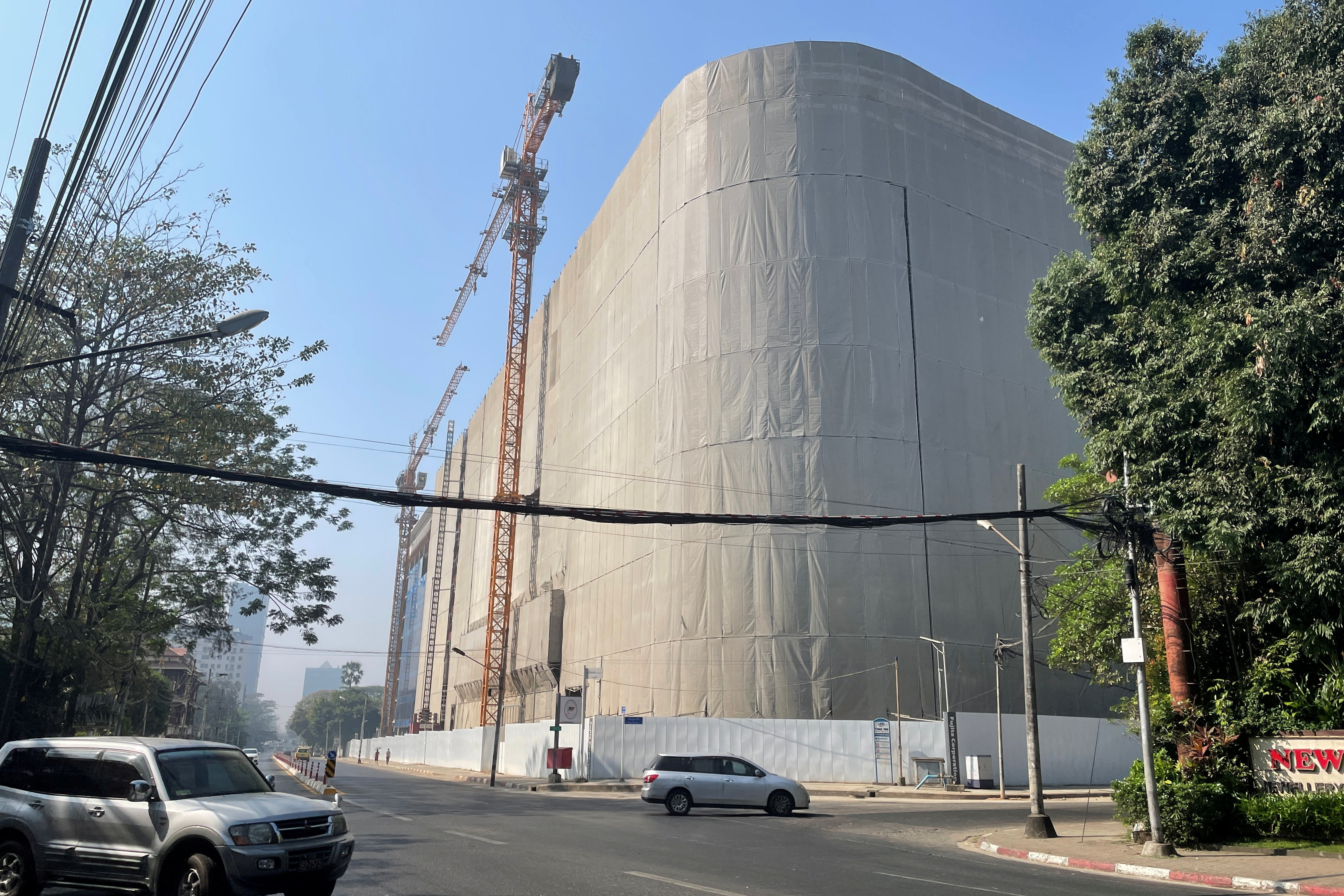 A construction site of a large-scale complex called Y Complex by Japanese firms is seen in the land that once housed the military museum in central  Yangon, Myanmar March 2, 2021. Picture taken March 2, 2021. REUTERS/Stringer
