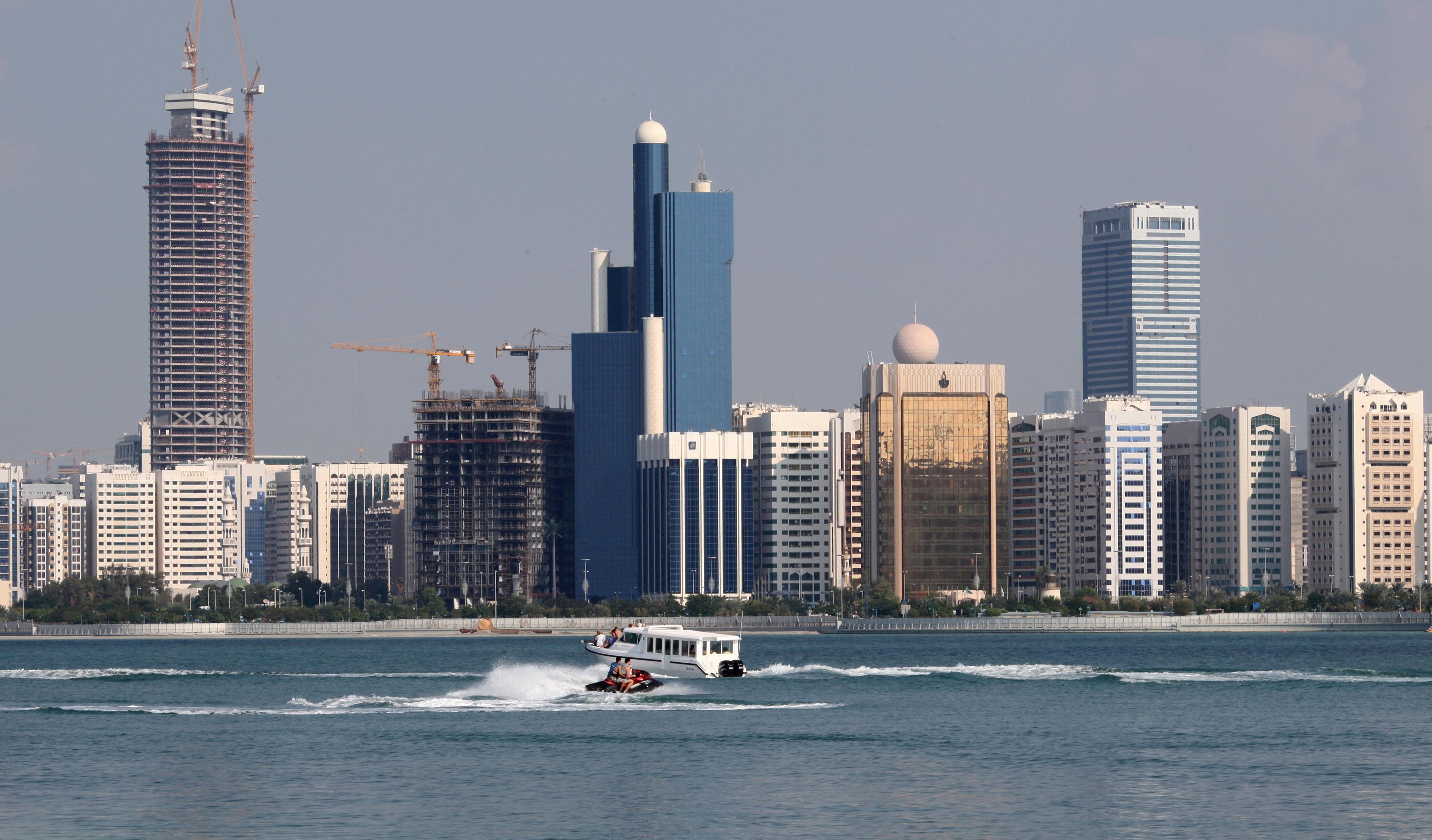 A general view of the Abu Dhabi skyline is seen, December 15, 2009. REUTERS/Ahmed Jadallah