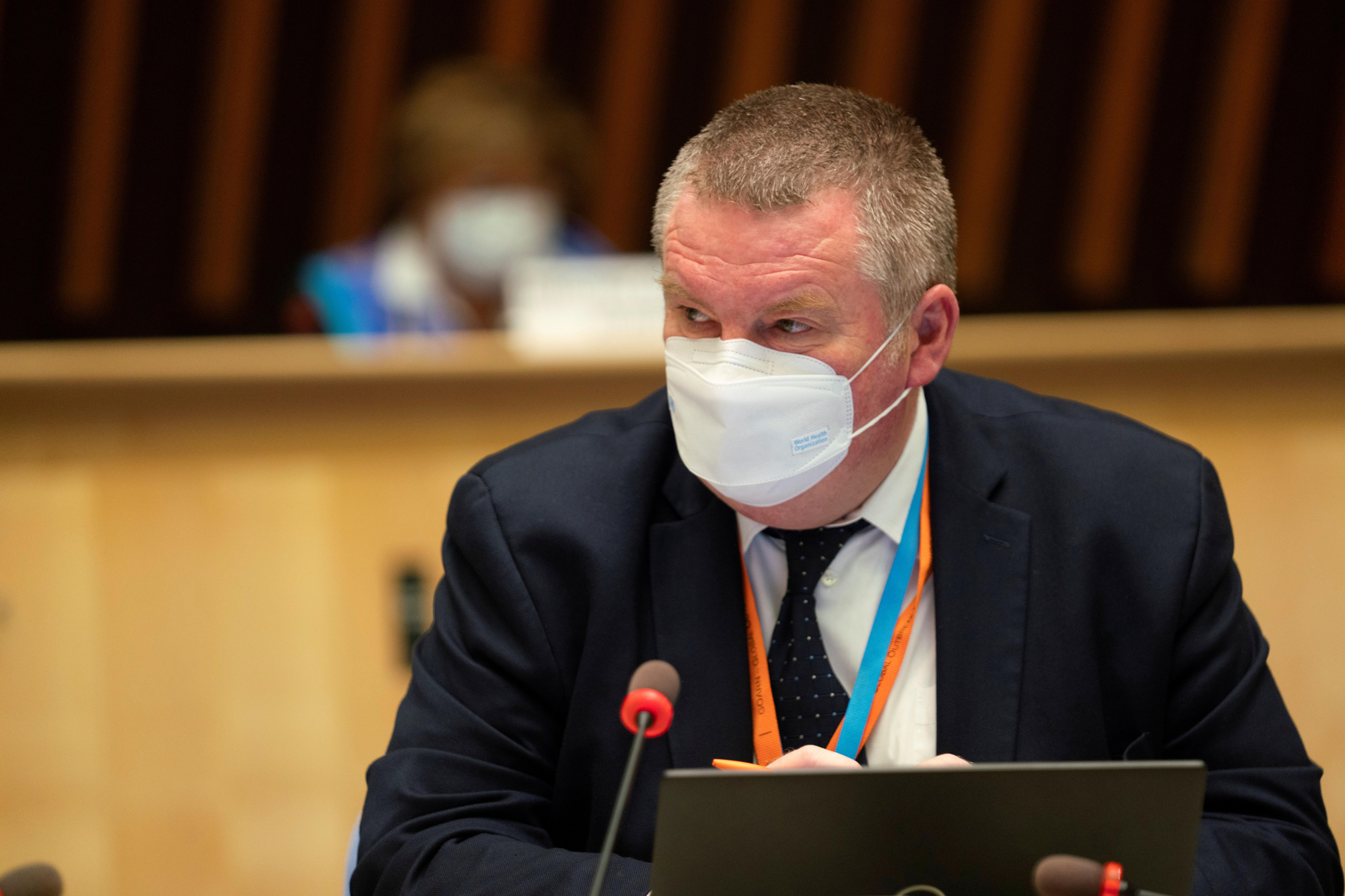 WHO Health Emergencies Programme Director Michael Ryan in Geneva, Switzerland, October 5, 2020.  Christopher Black/WHO/Handout via REUTERS