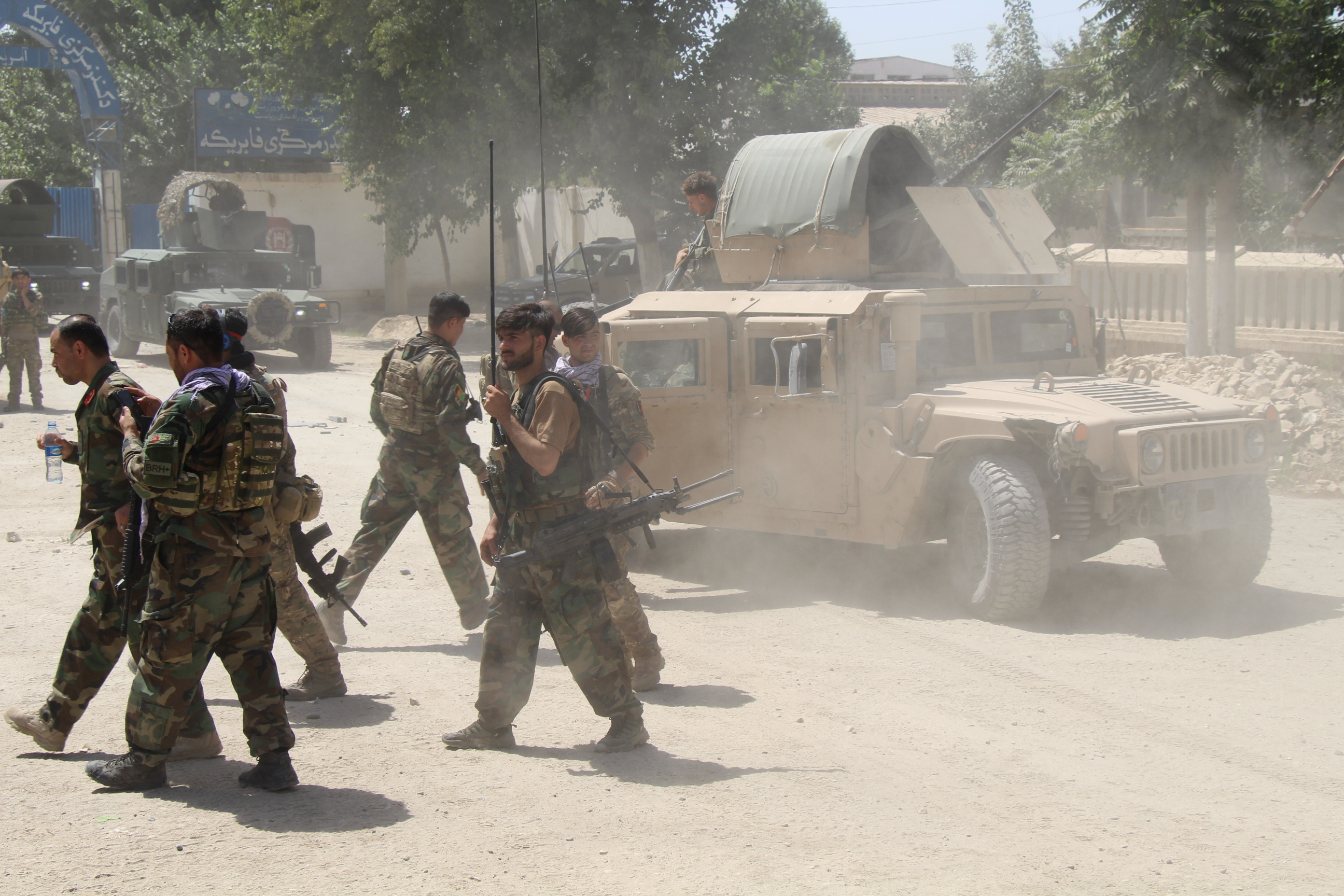 Afghan Commando forces are seen at the site of a battle field where they clash with the Taliban insurgent in Kunduz province, Afghanistan June 22, 2021. REUTERS/Stringer