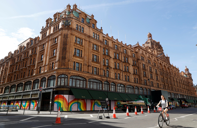 General view of Harrods department store in London, following the outbreak of the coronavirus disease (COVID-19), London, Britain, May 26, 2020. REUTERS/John Sibley