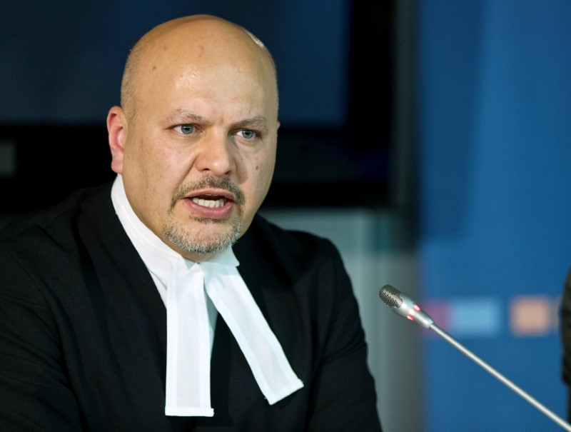 Defence Counsel for Kenya's Deputy President William Ruto, Karim Khan attends a news conference before the trial of Ruto and Joshua arap Sang at the International Criminal Court (ICC) in The Hague September 9, 2013. REUTERS/Michael Kooren