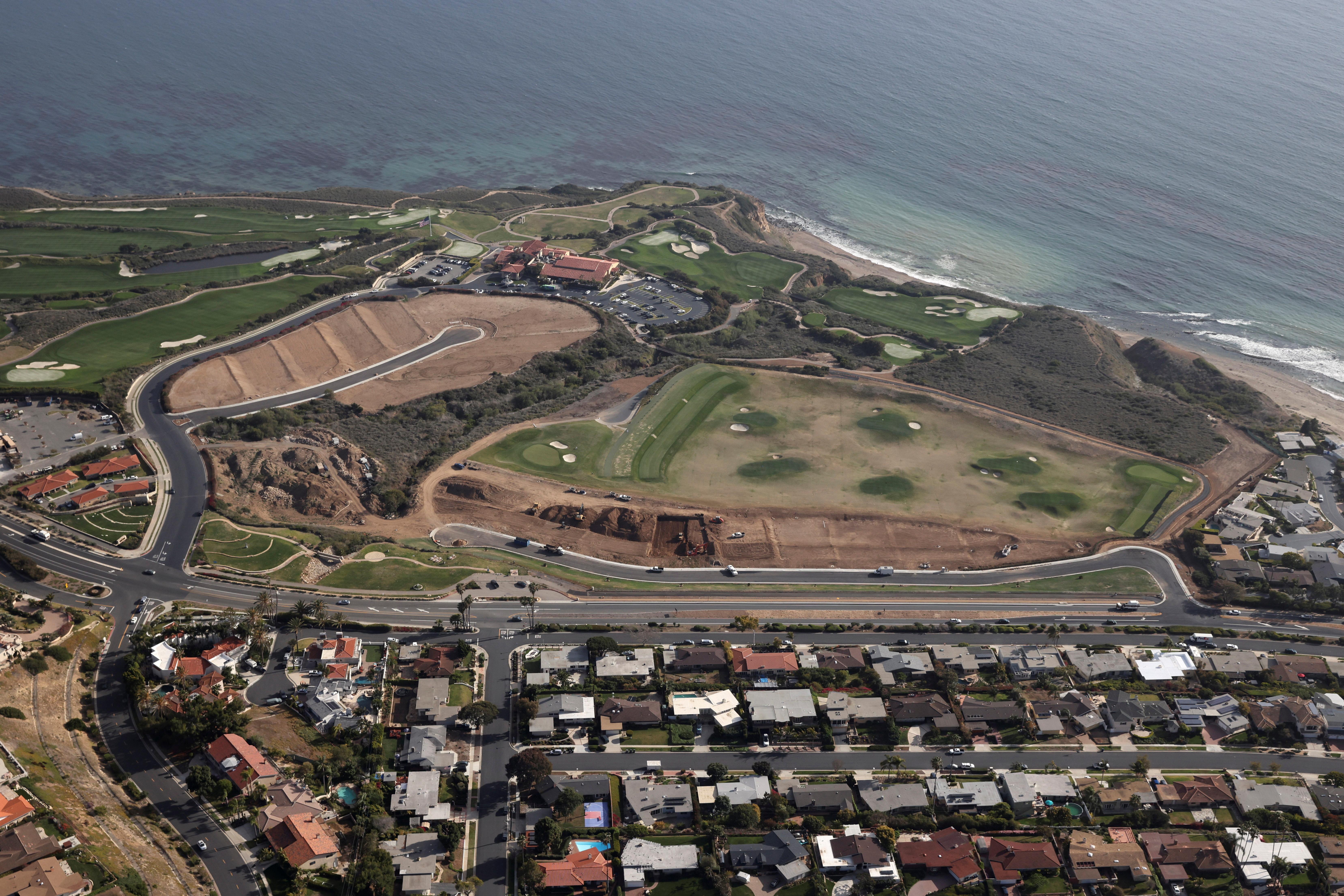 The Trump National Golf Club is seen in Rancho Palos Verdes, near Los Angeles, California, U.S., April 7, 2021. REUTERS/Lucy Nicholson