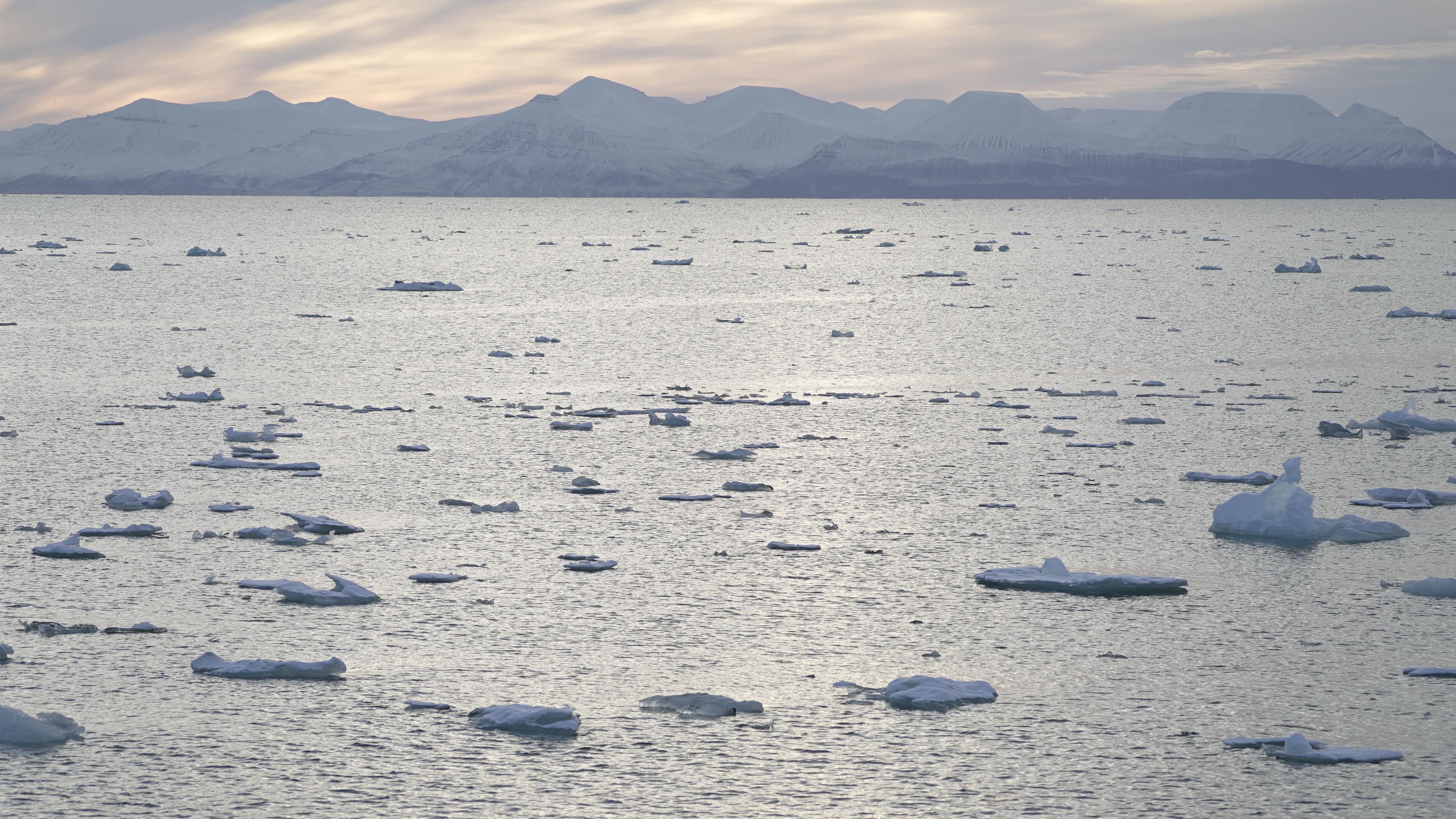 A view across Yoldiabukta Bay towards Spitsbergen island, part of the Svalbard archipelago in northern Norway, September 27, 2020. REUTERS/Natalie Thomas