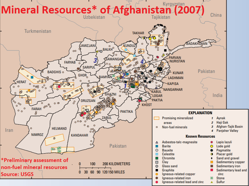 Non-fuel mineral resources based on a preliminary assessment in 2007