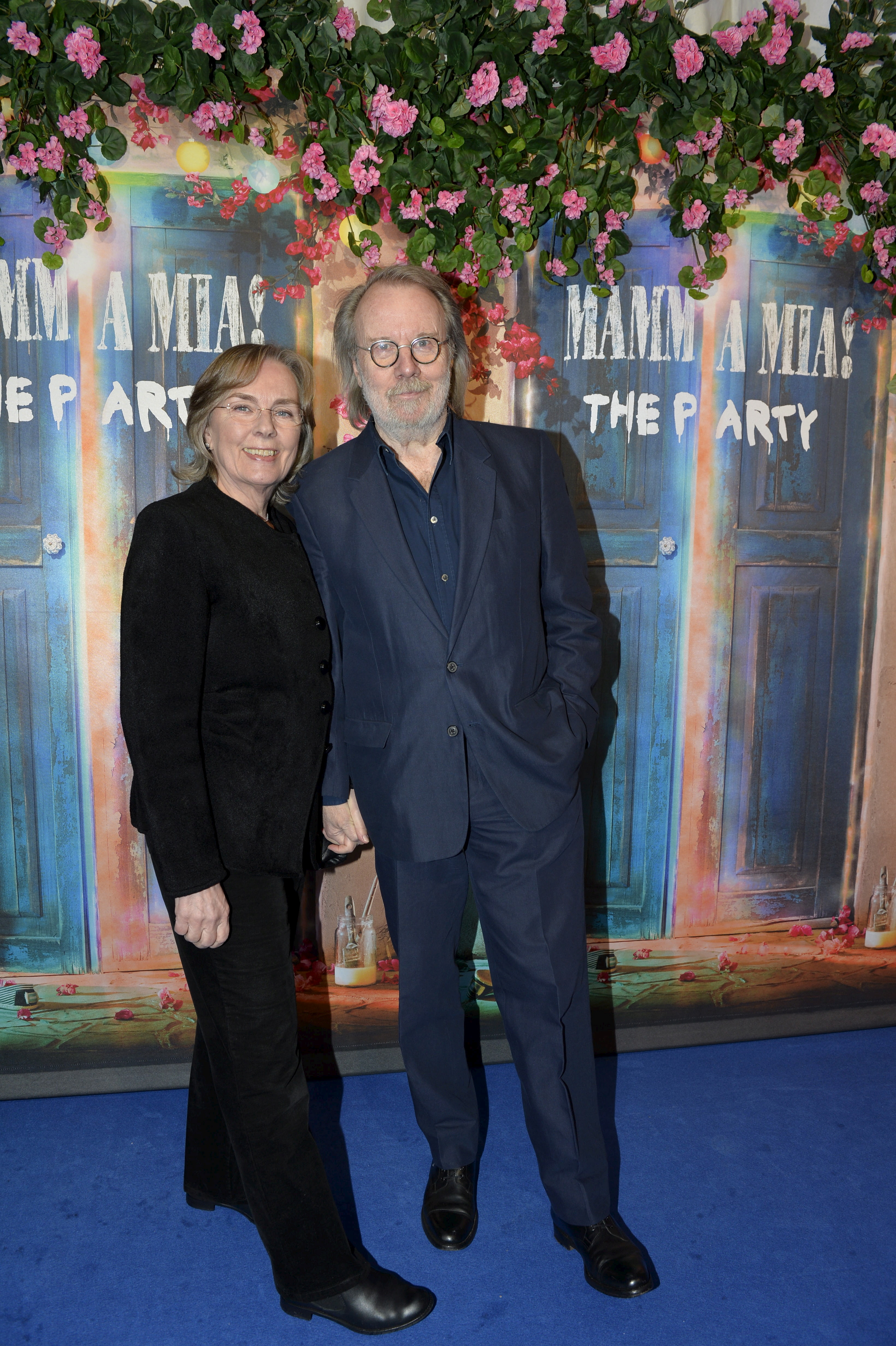 Former Abba member Benny Andersson and his wife Mona Norklit arrive for the premiere of