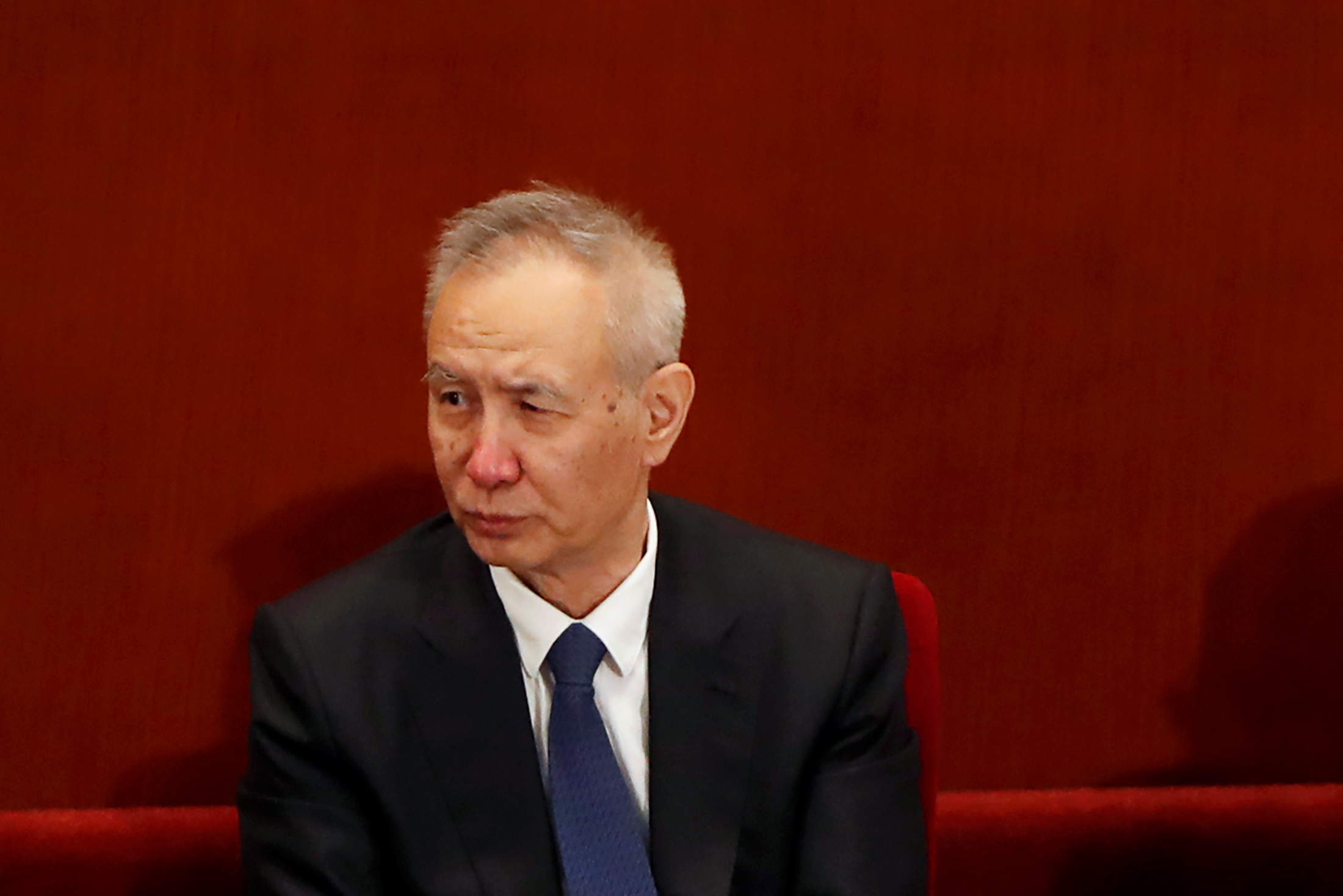 Chinese Vice Premier Liu He attends the opening session of the Chinese People's Political Consultative Conference (CPPCC) at the Great Hall of the People in Beijing, China May 21, 2020. REUTERS/Carlos Garcia Rawlins