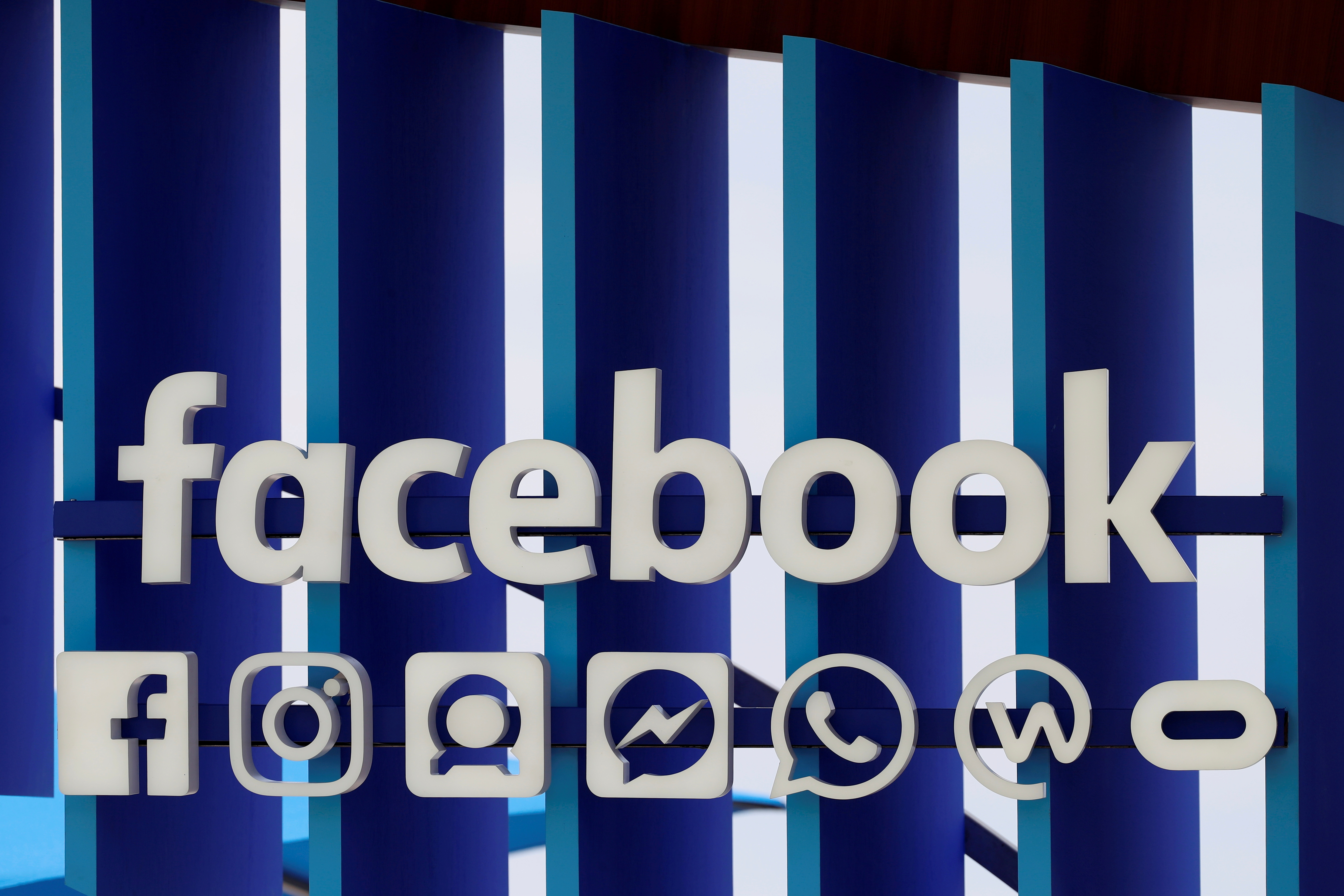 A Facebook panel is seen during the Cannes Lions International Festival of Creativity, in Cannes, France, June 20, 2018.  REUTERS/Eric Gaillard/File Photo