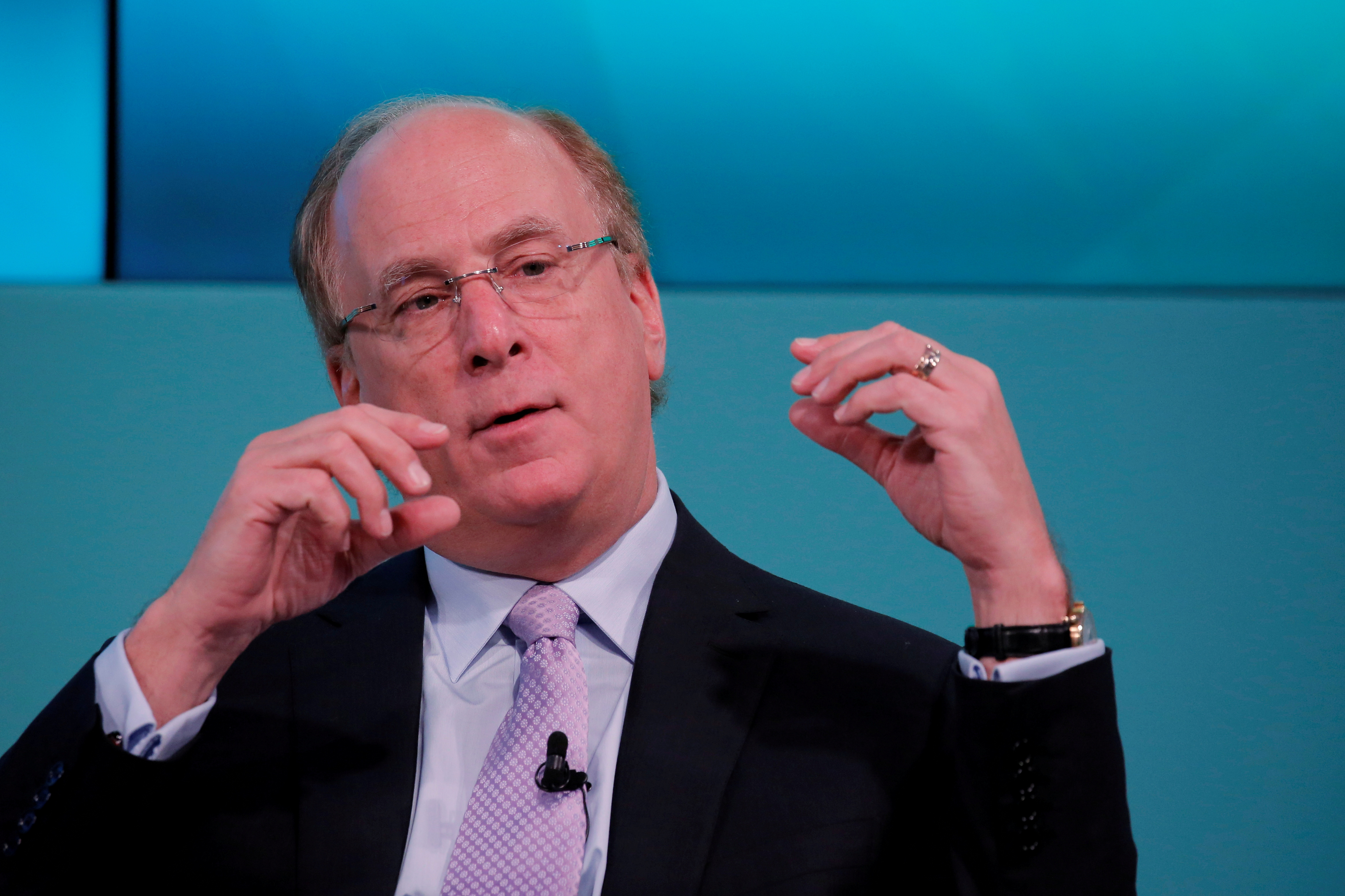 Larry Fink, Chief Executive Officer of BlackRock, takes part in the Yahoo Finance All Markets Summit in New York, U.S., February 8, 2017. REUTERS/Lucas Jackson/File Photo