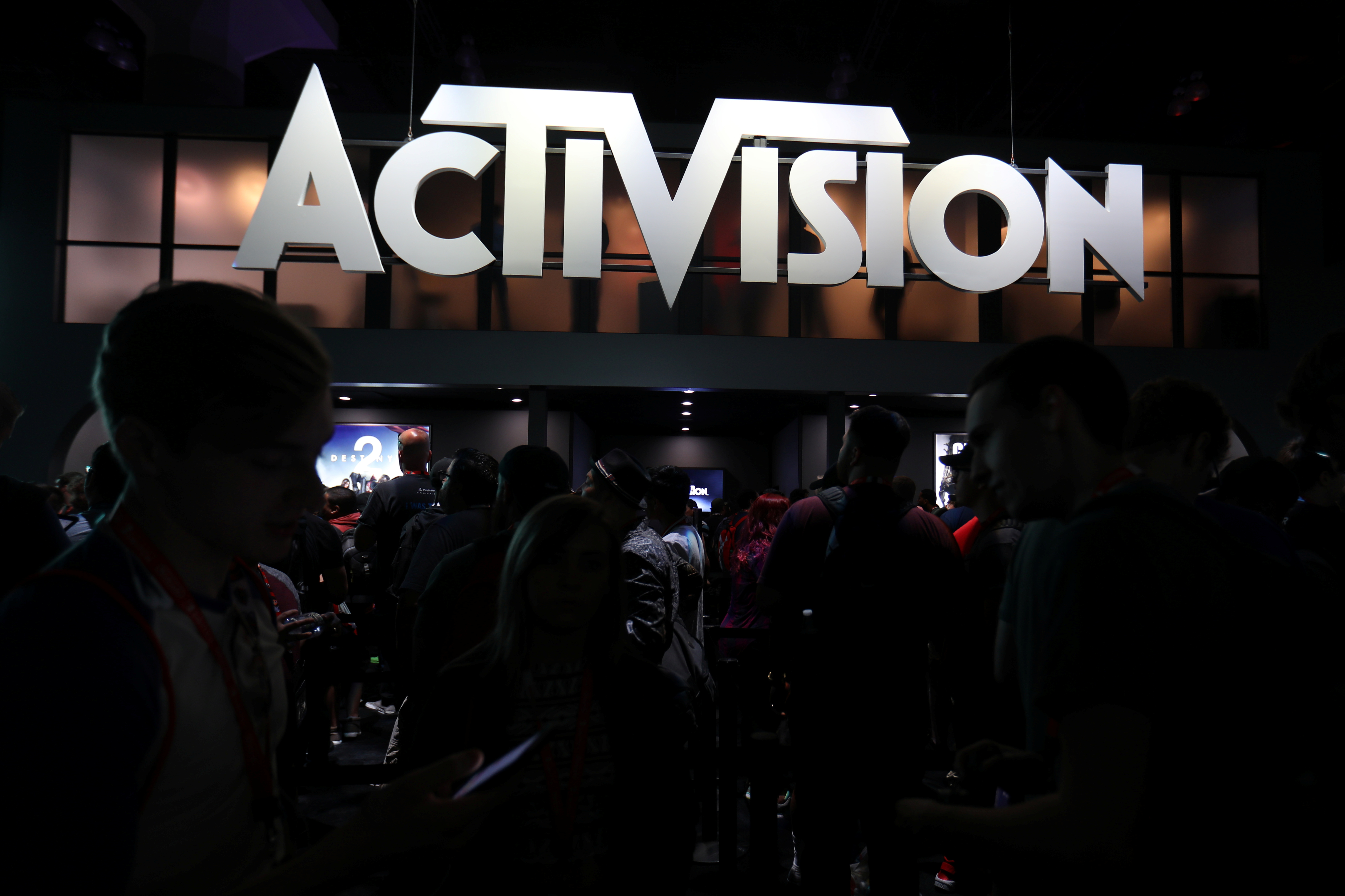 The Activision booth at the E3 2017 Electronic Entertainment Expo in Los Angeles, California. REUTERS/ Mike Blake