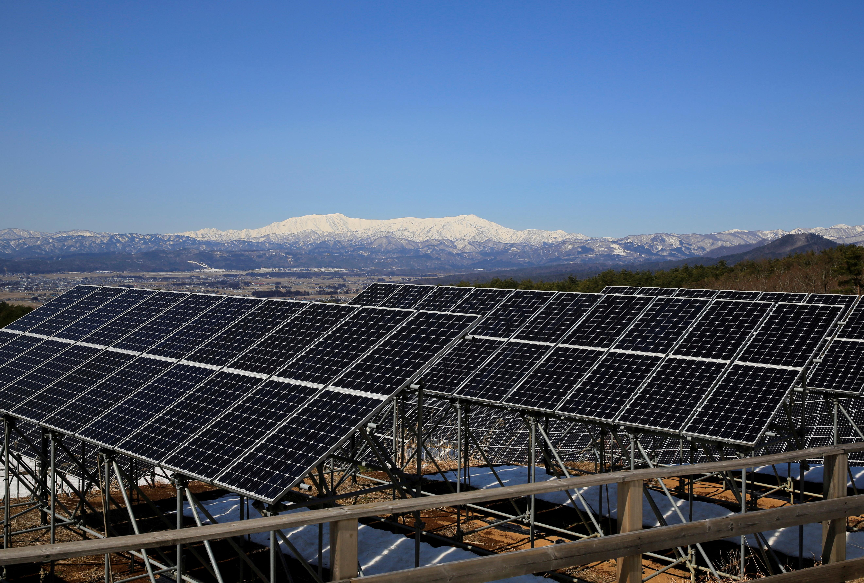 Aizu Electric Power's Oguni solar power station is pictured in Kitakata, Fukushima Prefecture, Japan, March 7, 2021. REUTERS/Yuka Obayashi